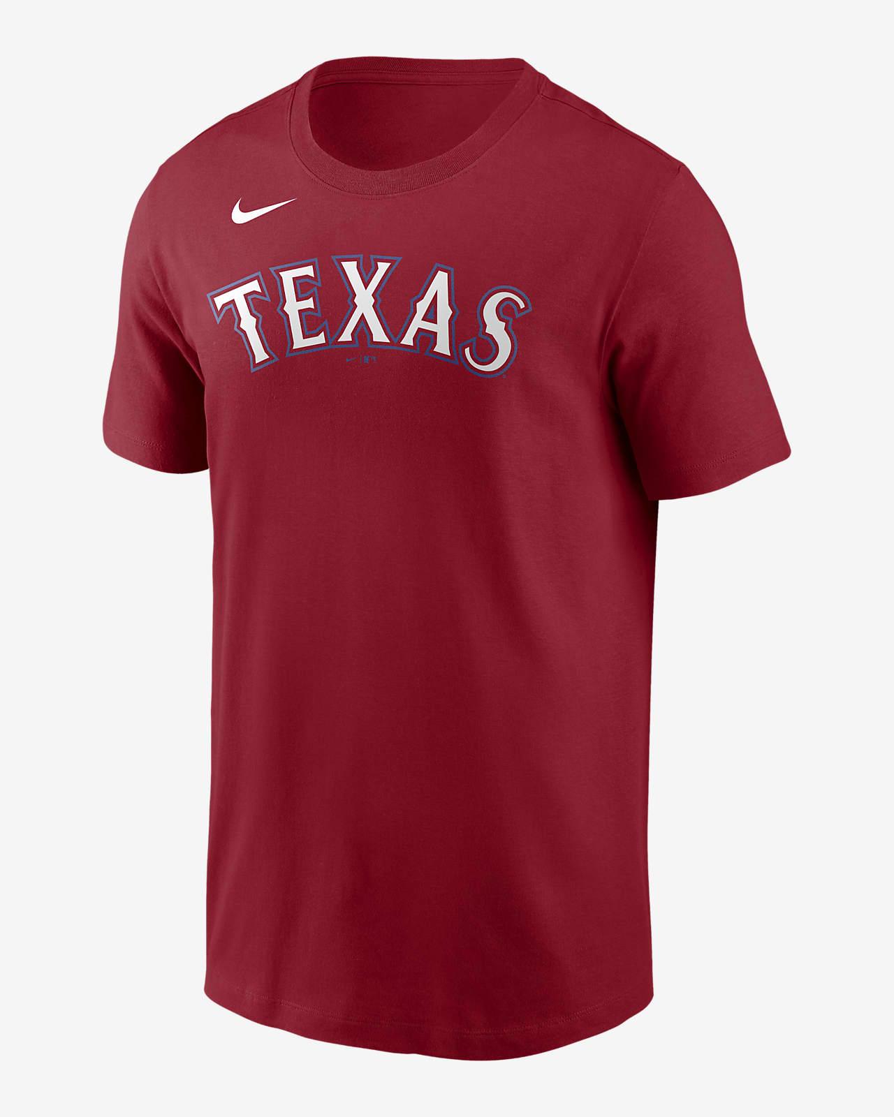 Nike Wordmark (MLB Texas Rangers) Men's T-Shirt
