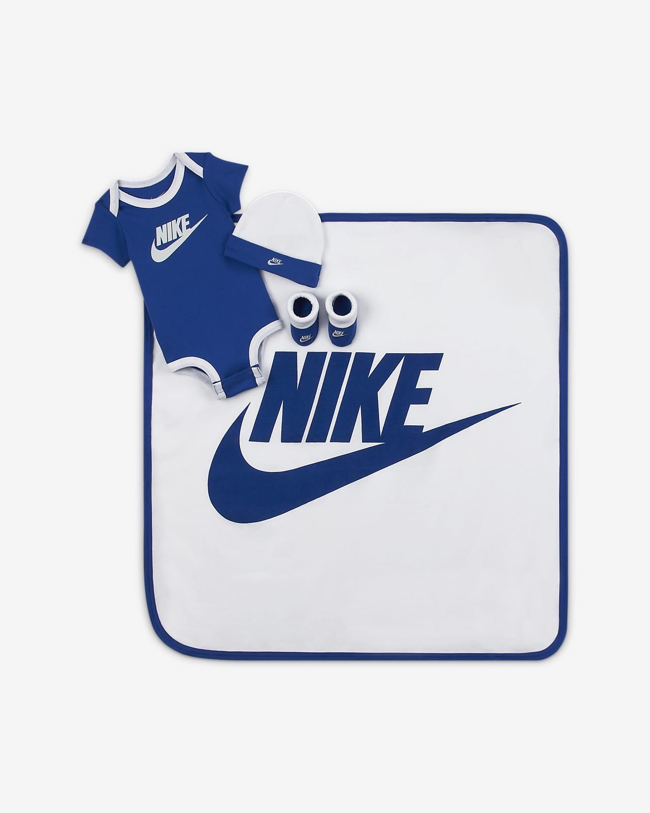 Conjunto De Body Gorro Calzado Y Manta Para Bebe Nike Nike Com
