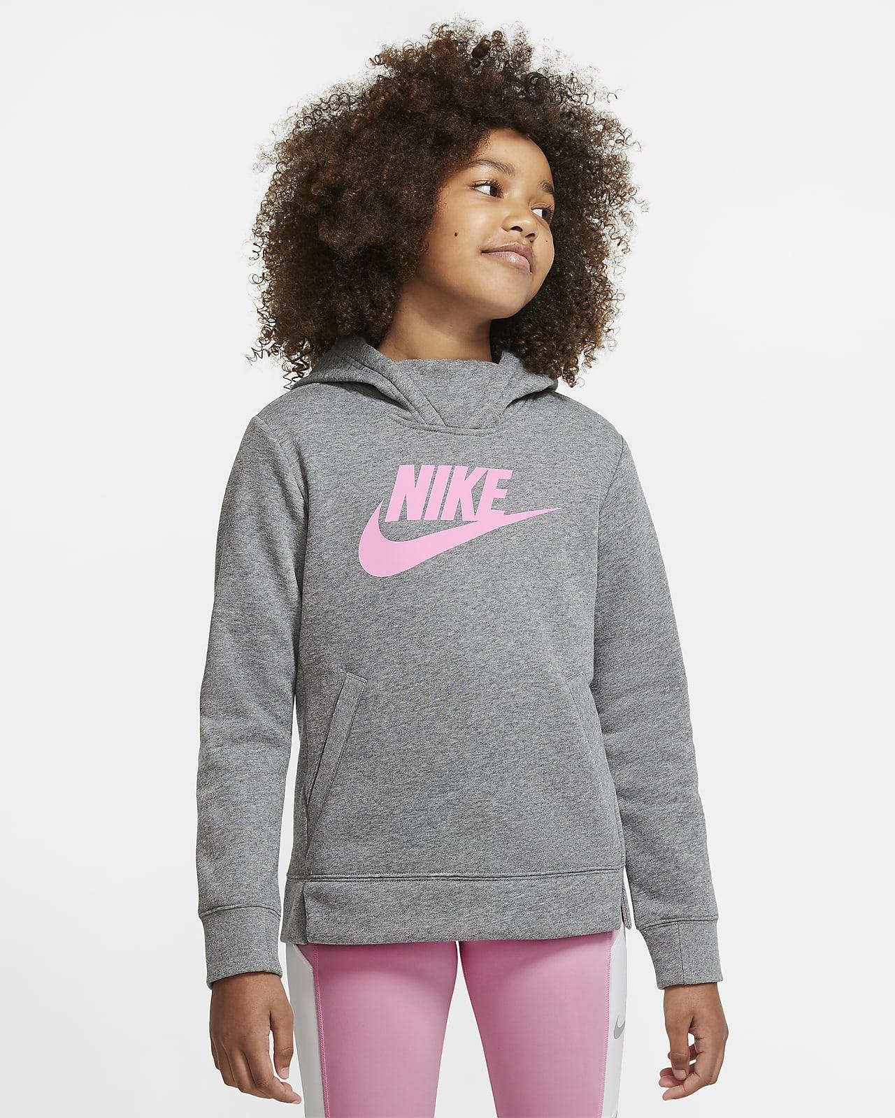 Dívčí mikina s kapucí Nike Sportswear