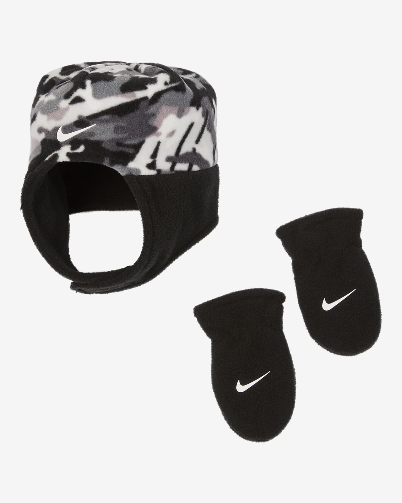 Nike Baby (12–24M) Hat and Mittens Set