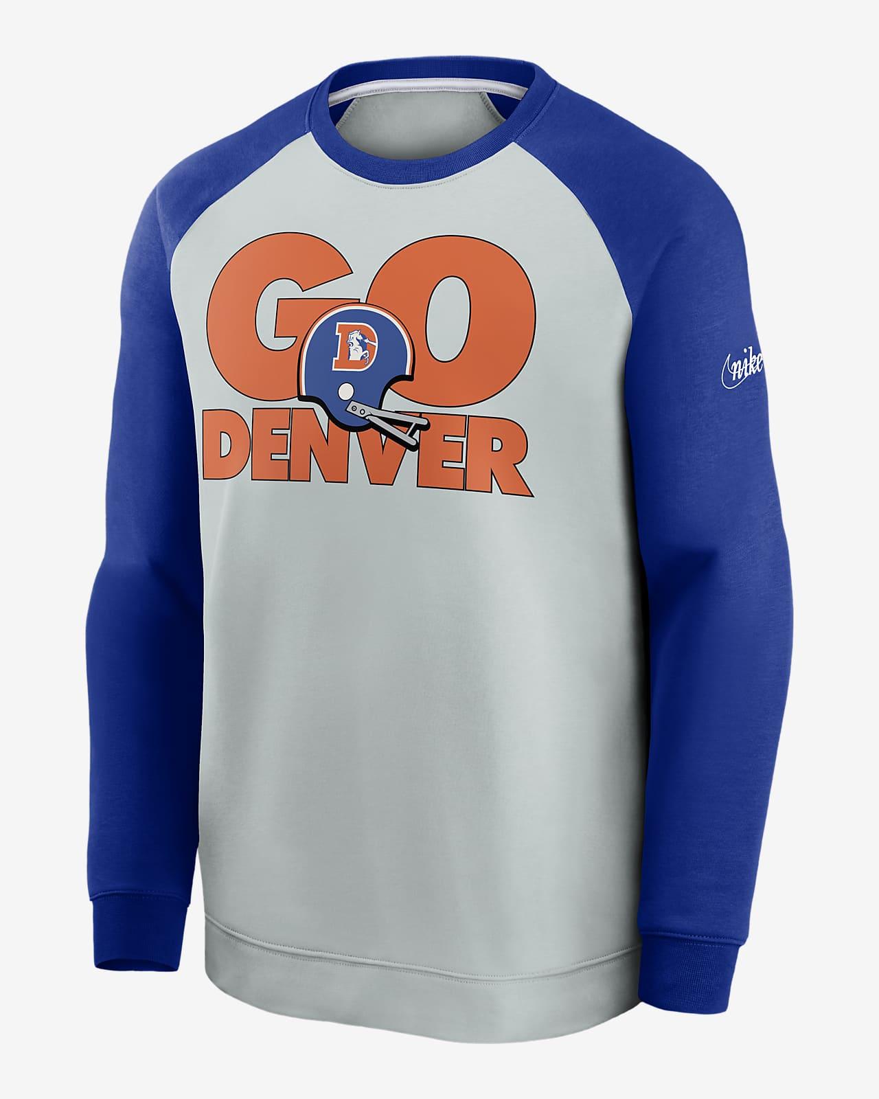 Nike Historic Raglan (NFL Broncos) Men's Sweatshirt
