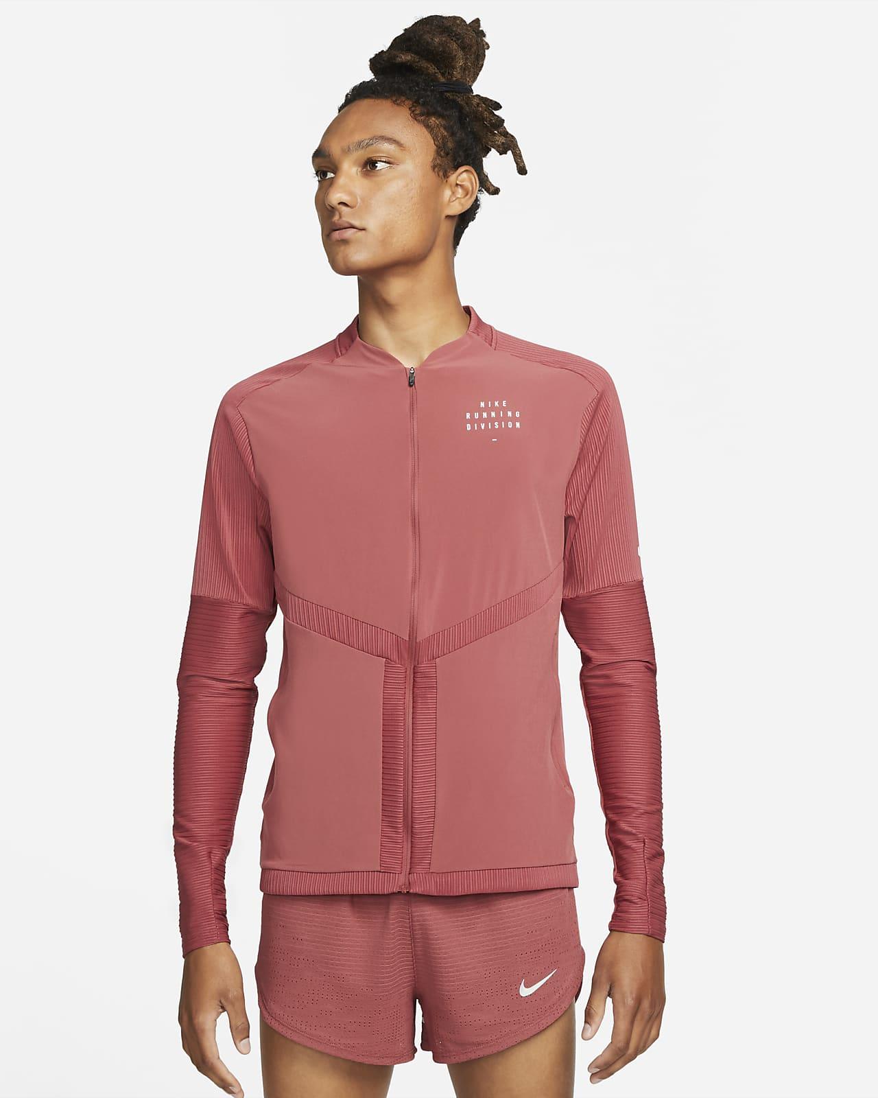 Camiseta de running de cierre completo para hombre Nike Dri-FIT Element Run Division