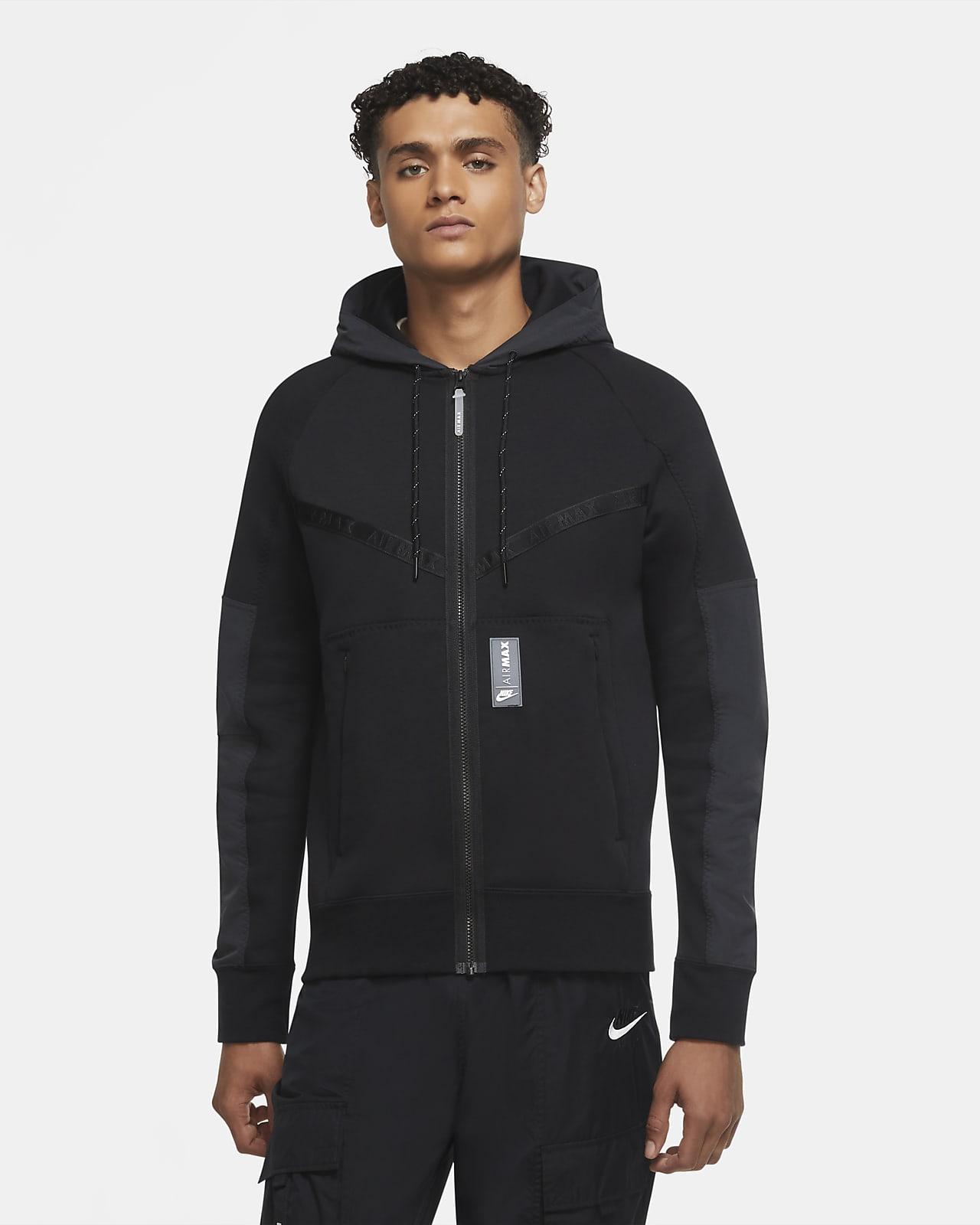 Nike Sportswear Air Max-hættetrøje i fleece med lynlås til mænd