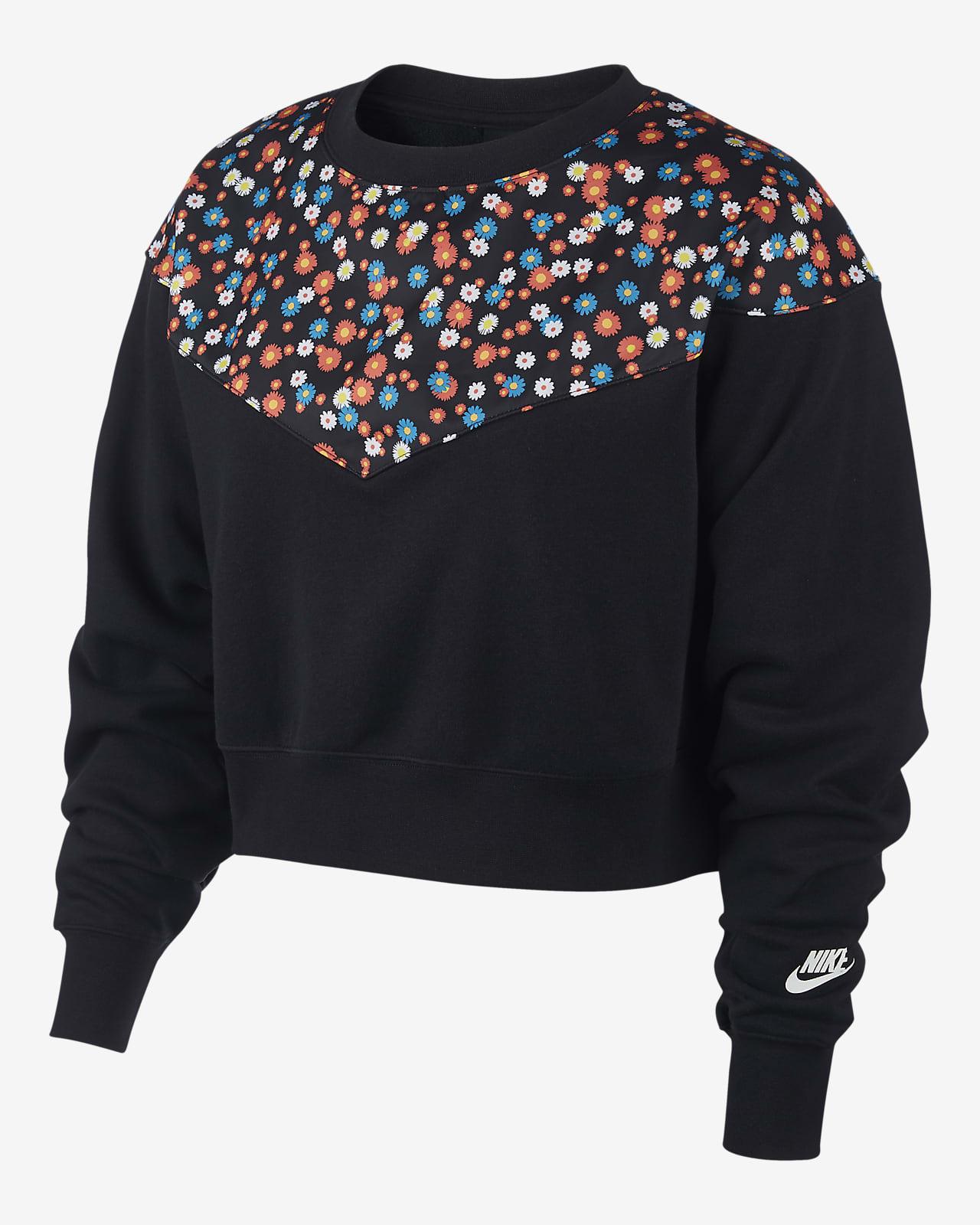 nike sportswear fleece-rundhalsshirt für damen