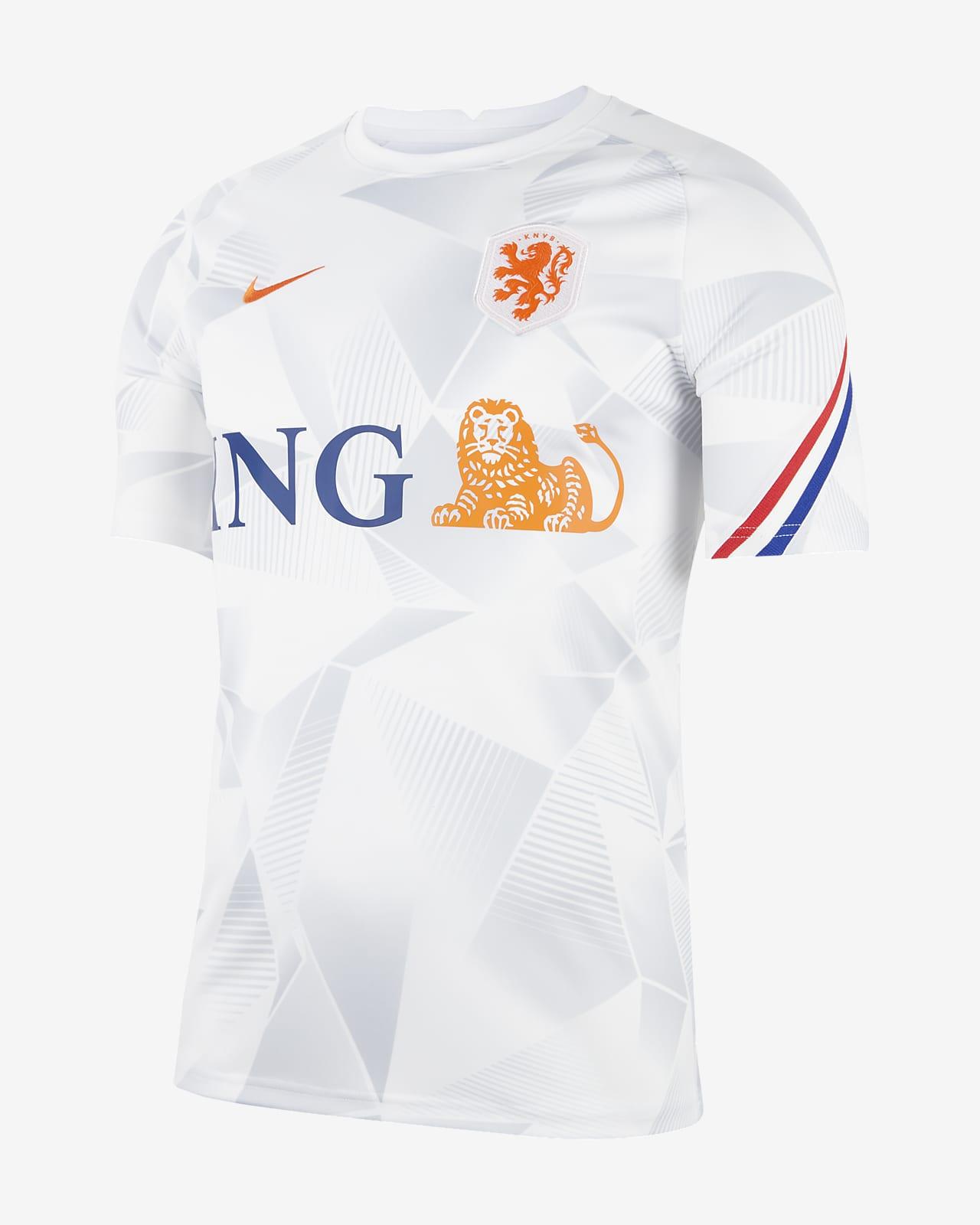 荷兰队男子短袖足球上衣