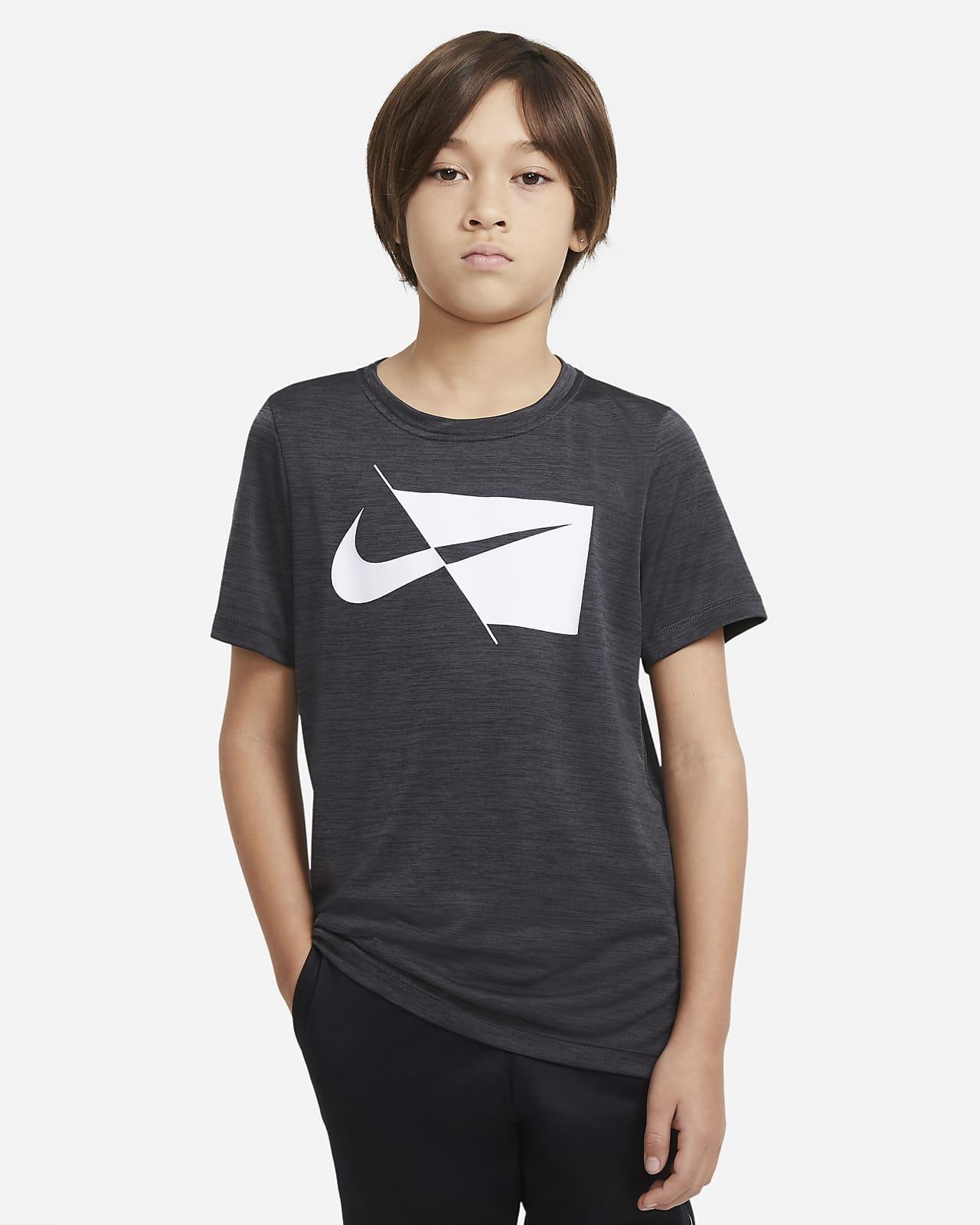 Футболка для тренинга с коротким рукавом для мальчиков школьного возраста Nike