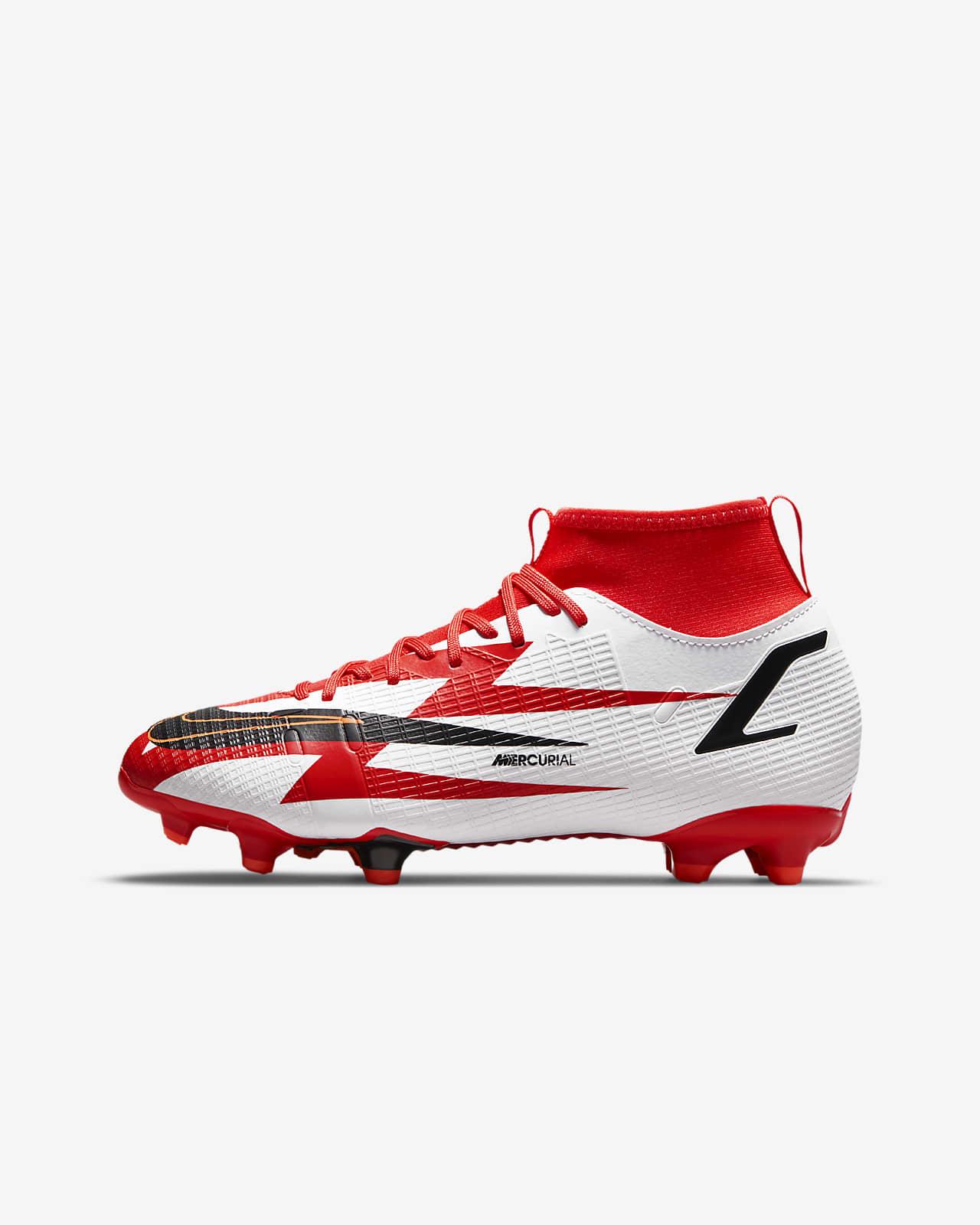 รองเท้าสตั๊ดฟุตบอลเด็กเล็ก/เด็กโตสำหรับพื้นหลายประเภท Nike Jr. Mercurial Superfly 8 Academy CR7 MG