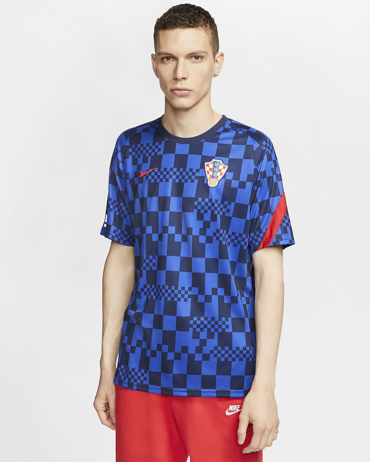 克罗地亚队男子短袖足球上衣
