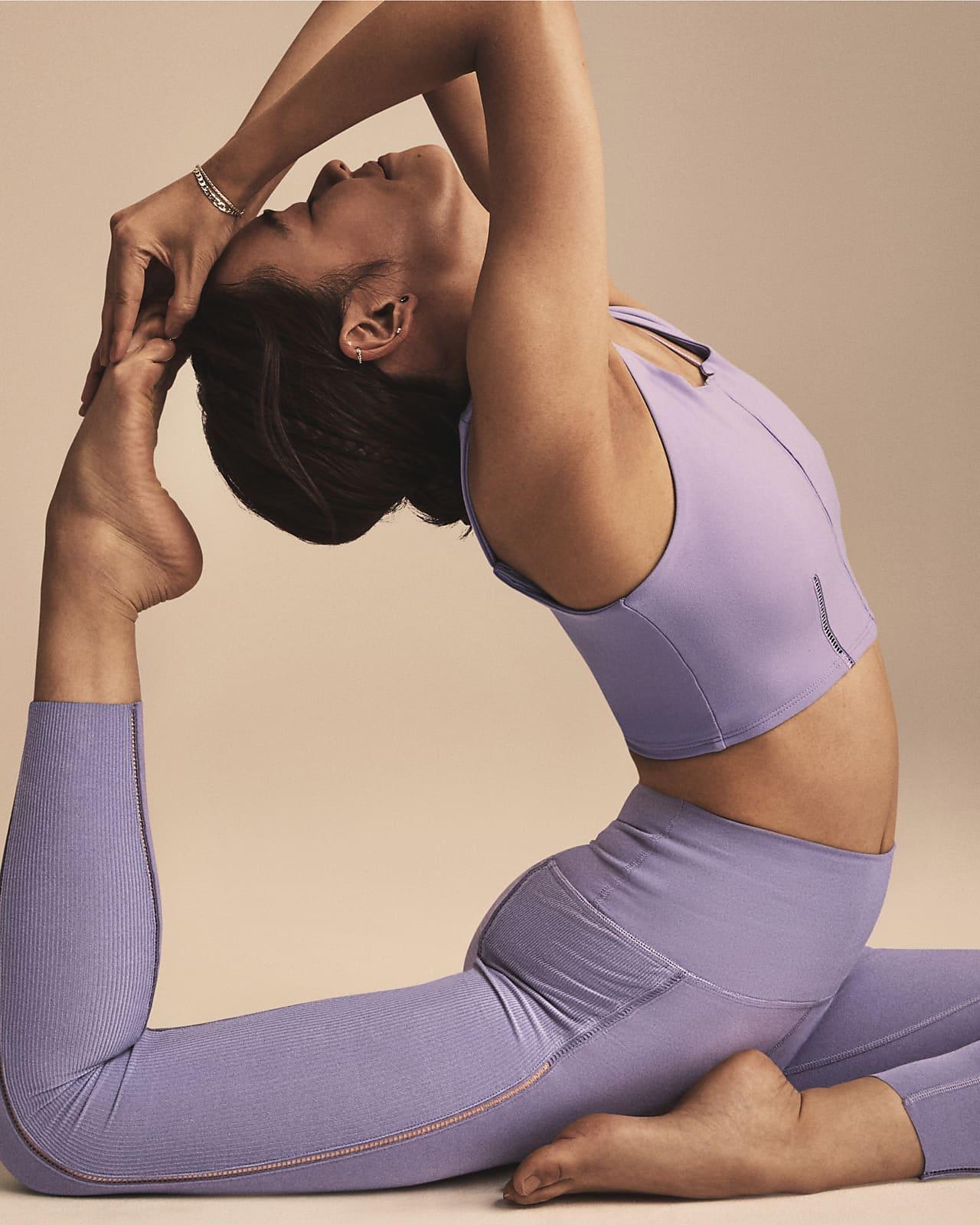 Nike Yoga Luxe Leggings elásticos de 7/8 de tejido Infinalon - Mujer. Nike  ES