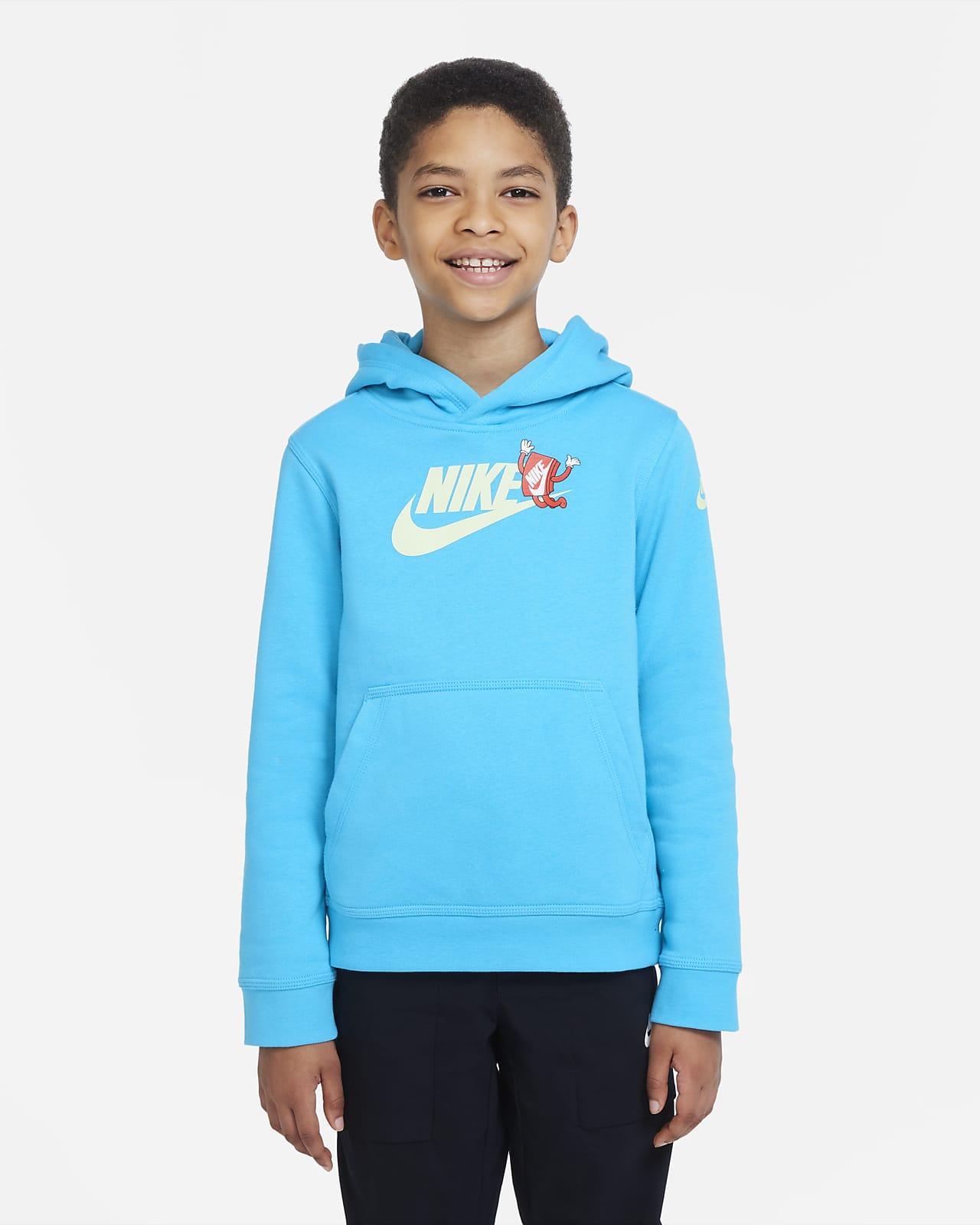 Nike Sportswear Club Big Kids' (Boys') Graphic Pullover Hoodie