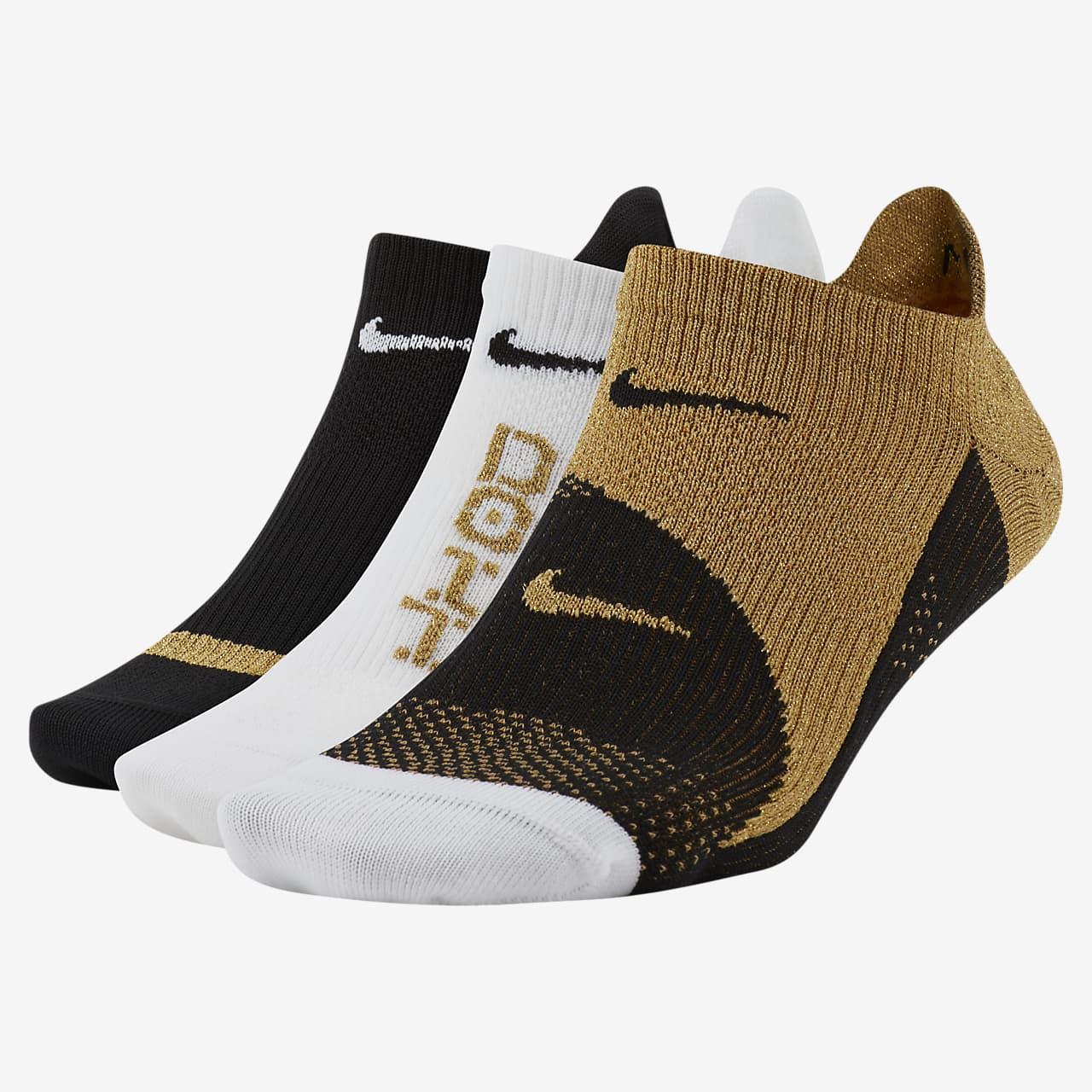 Calcetines invisibles de entrenamiento para mujer Nike Everyday Plus Lightweight (3 pares)
