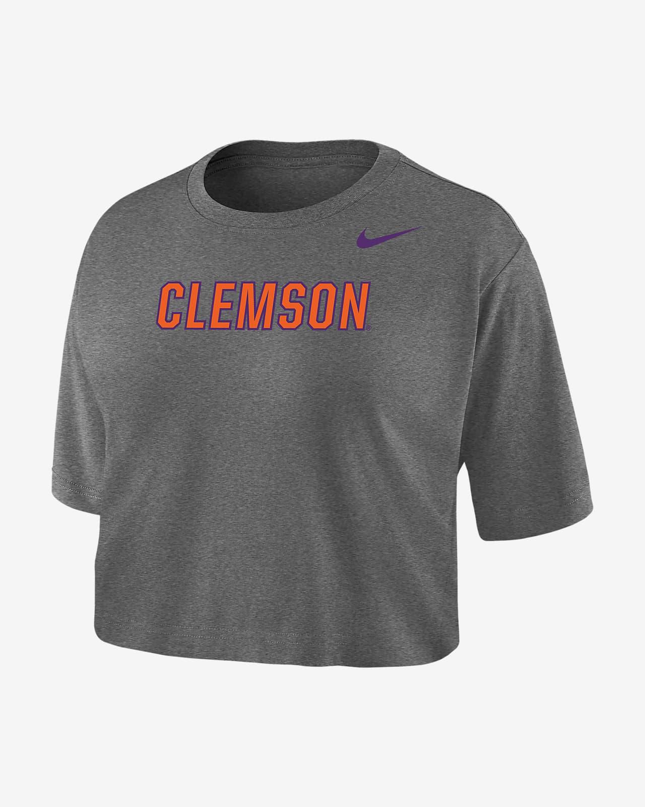 Nike College Dri-FIT (Clemson) Women's Crop T-Shirt