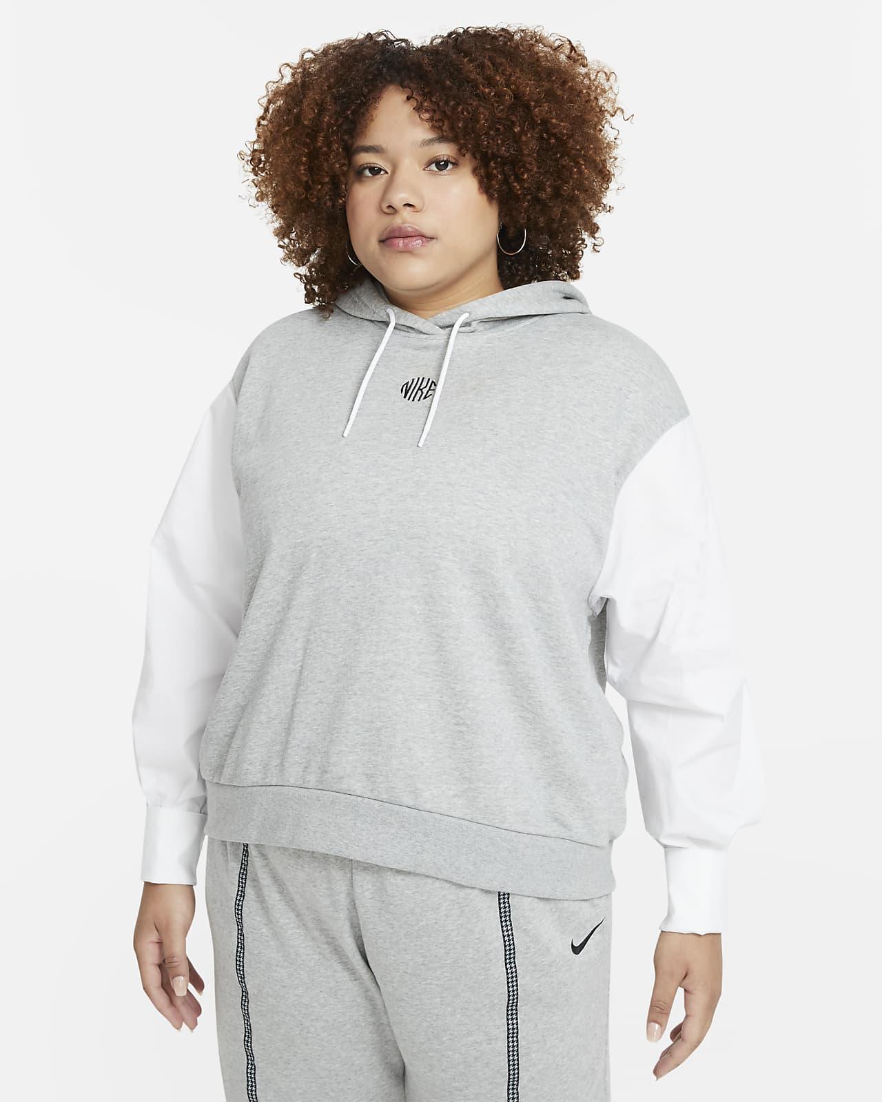 Huvtröja Nike Sportswear Icon Clash för kvinnor (Plus Size)