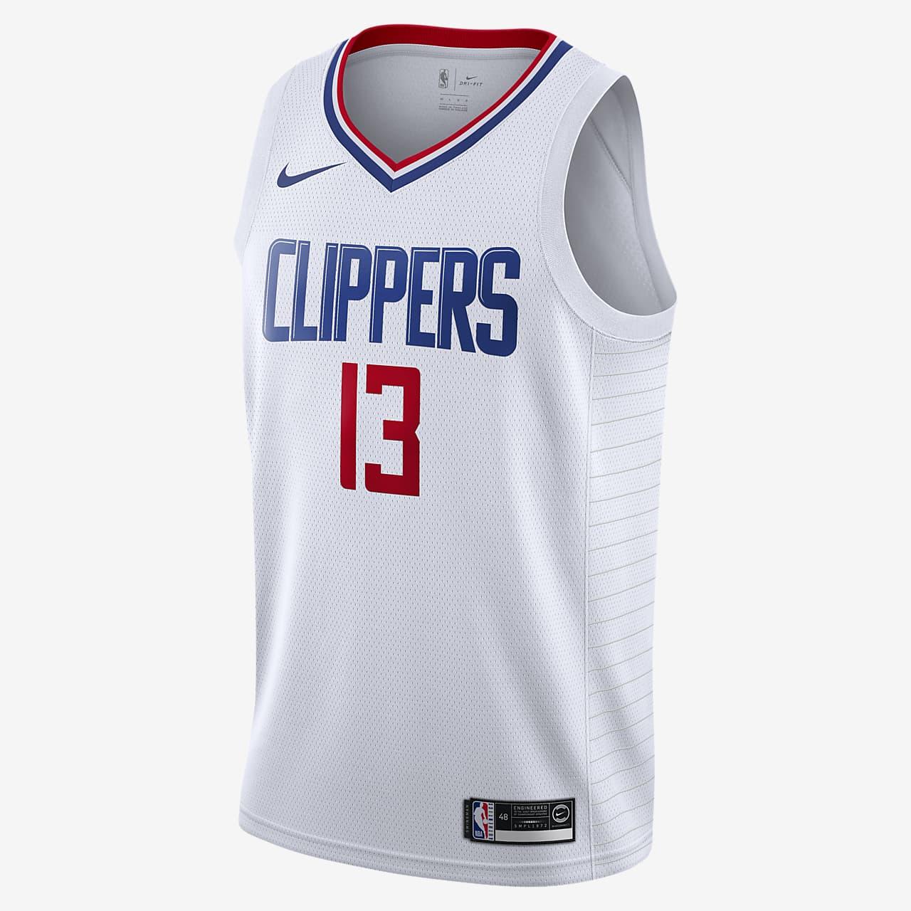 洛杉矶快船队 (Paul George) Association Edition Nike NBA Swingman Jersey 男子球衣