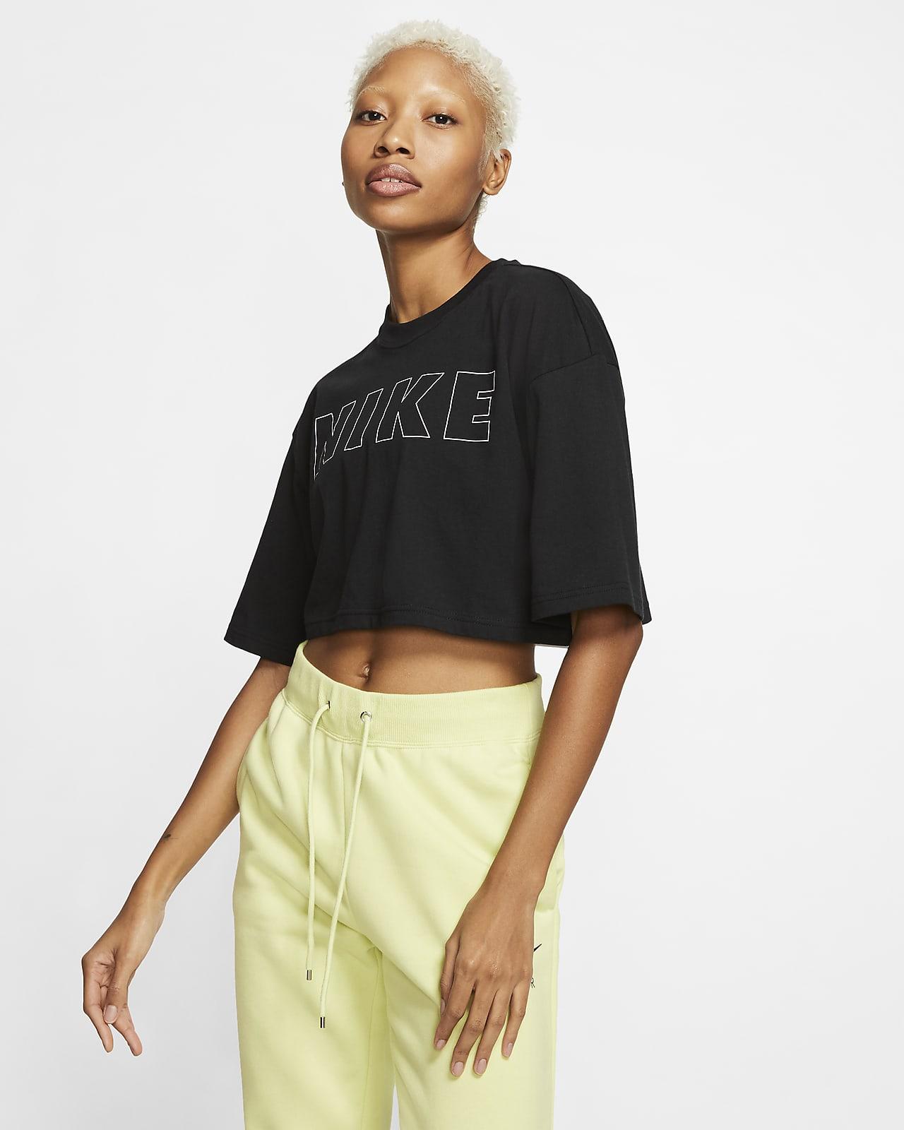 Nike Air T-Shirt mit Crop-Design für Damen