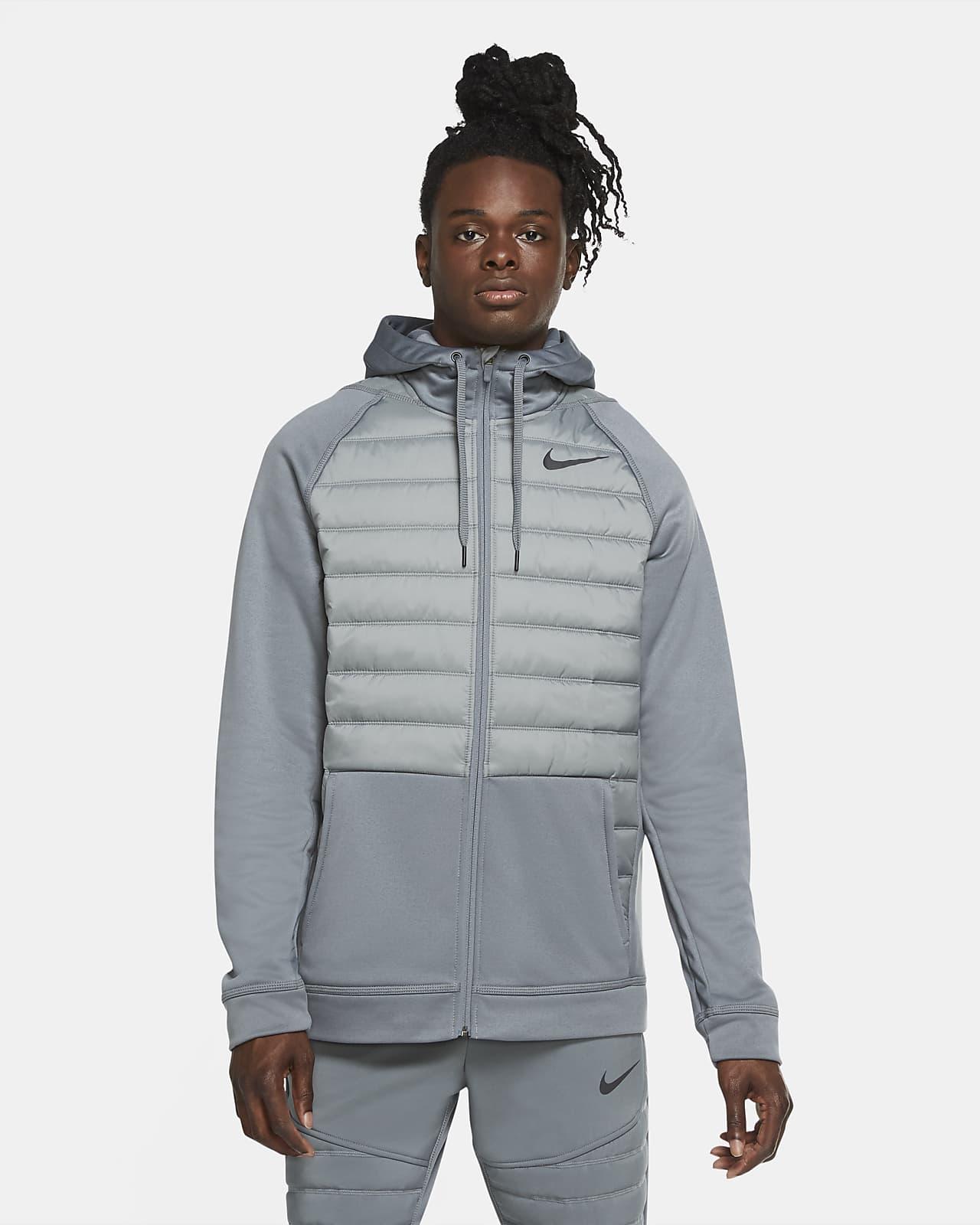 Pánská tréninková bunda Nike Therma s dlouhým zipem