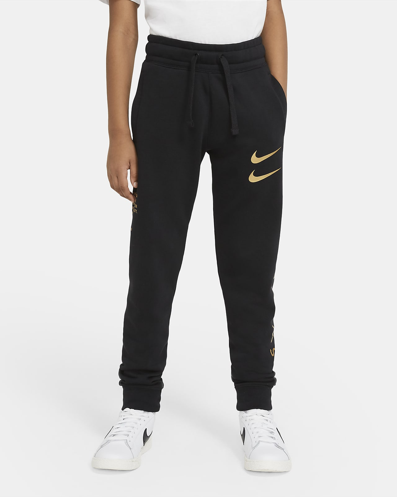Kalhoty Nike Sportswear Swoosh pro větší děti (chlapce)