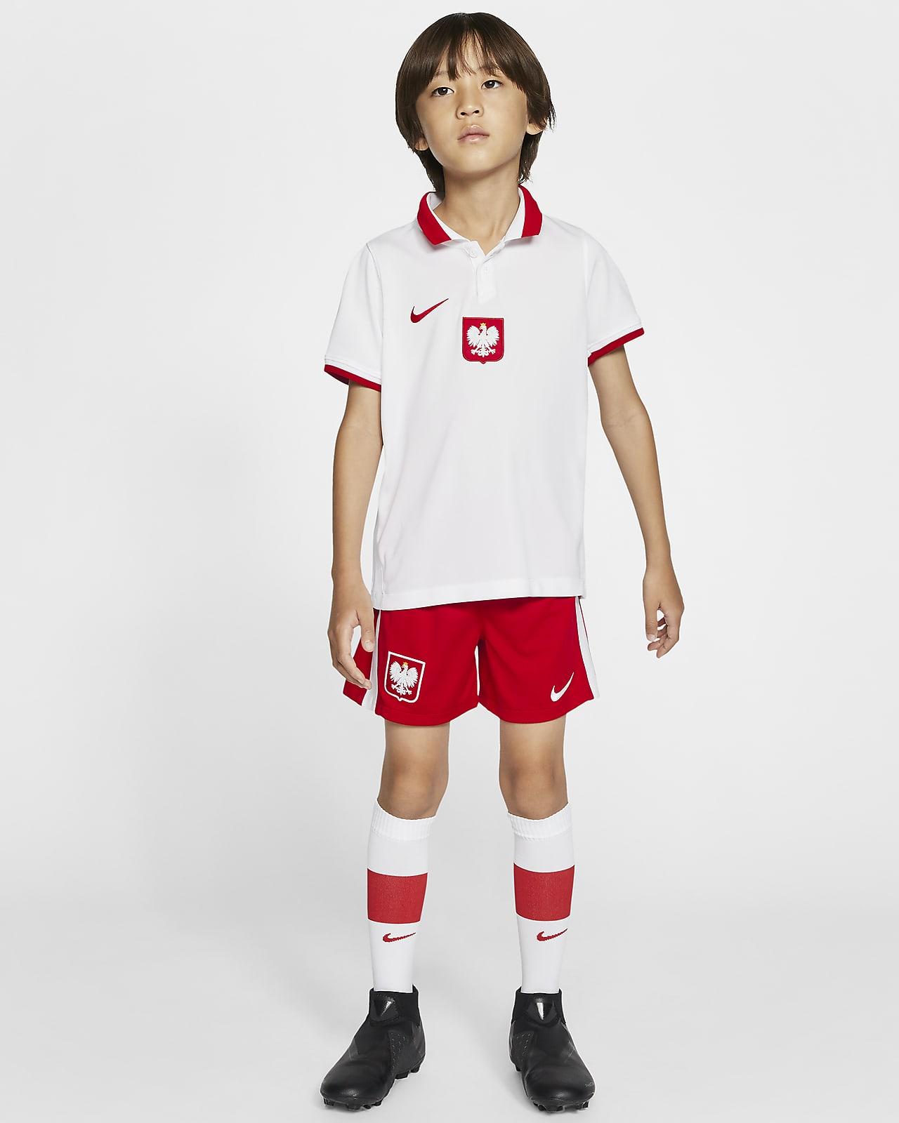 Футбольный комплект для дошкольников с символикой домашней формы сборной Польши 2020