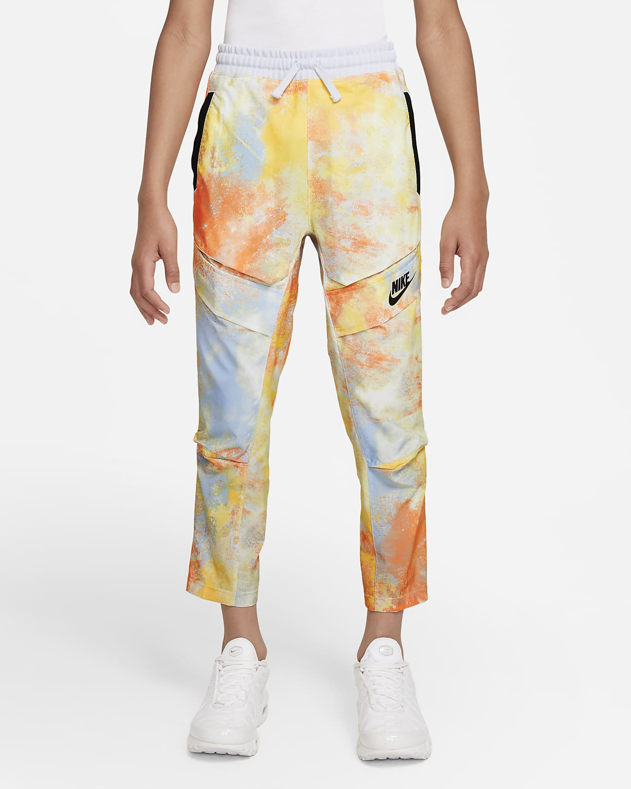 Nike Sportswear Big Kids' (Boys') Woven Tie-Dye 3/4-Length Pants