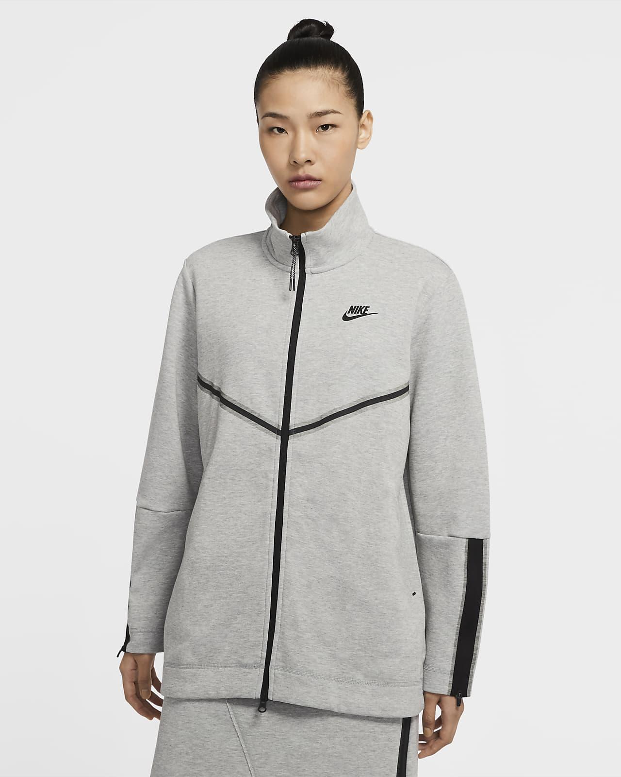 Nike Sportswear Tech Fleece–langærmet trøje med lynlås til kvinder