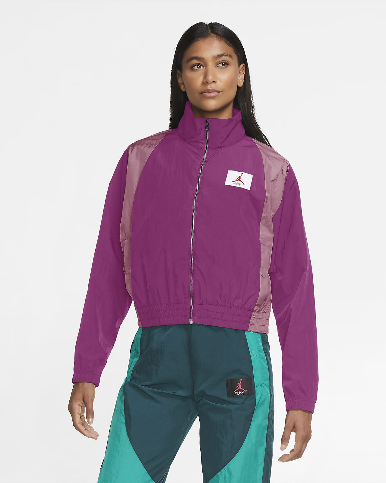 เสื้อแจ็คเก็ตผู้หญิงแบบทอ Jordan