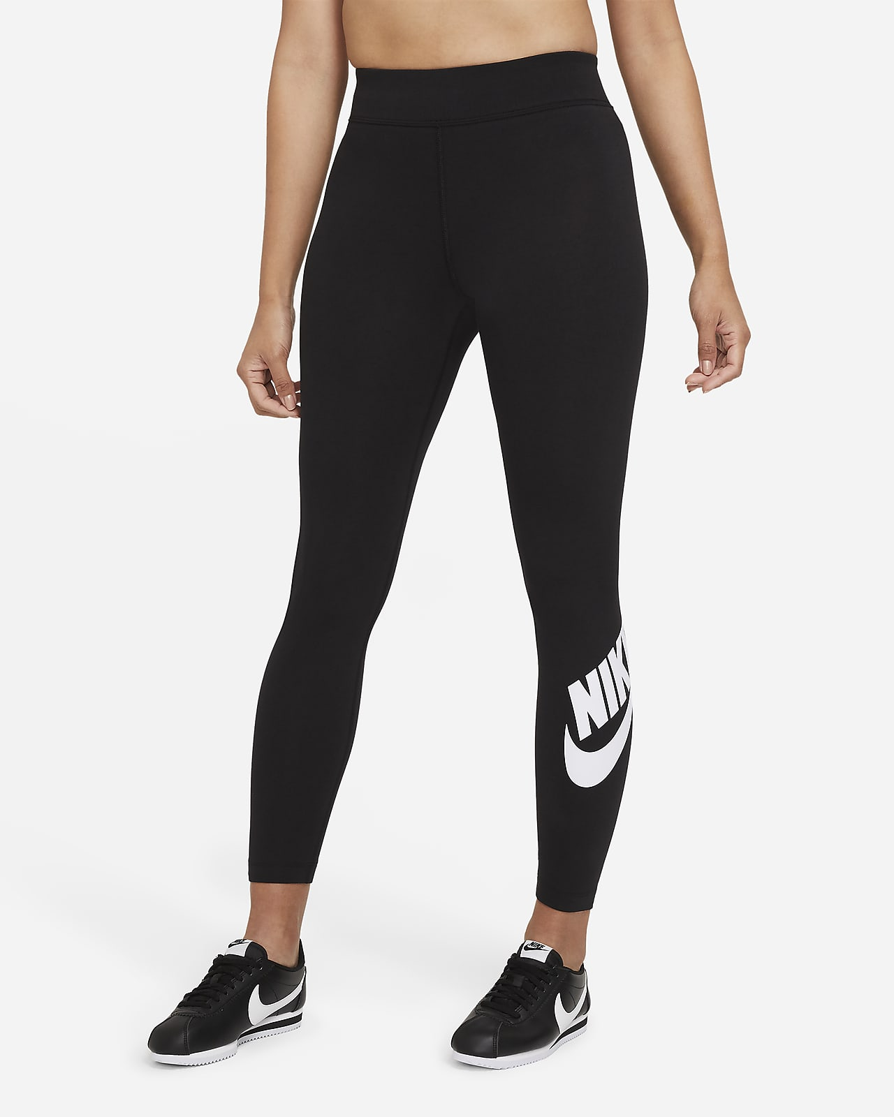 เลกกิ้งเอวสูงผู้หญิง Nike Sportswear Essential