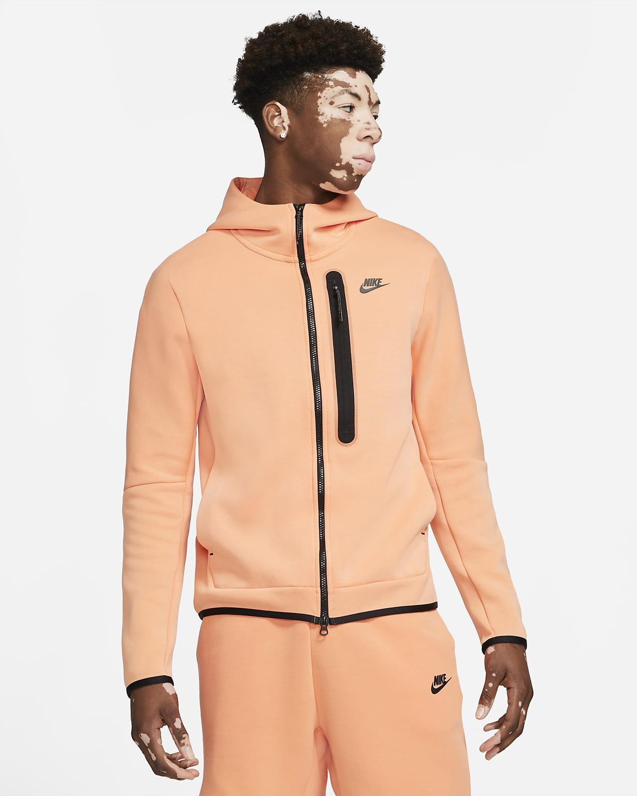 Sudadera con capucha de cierre completo para hombre lavada Nike Sportswear Tech Fleece