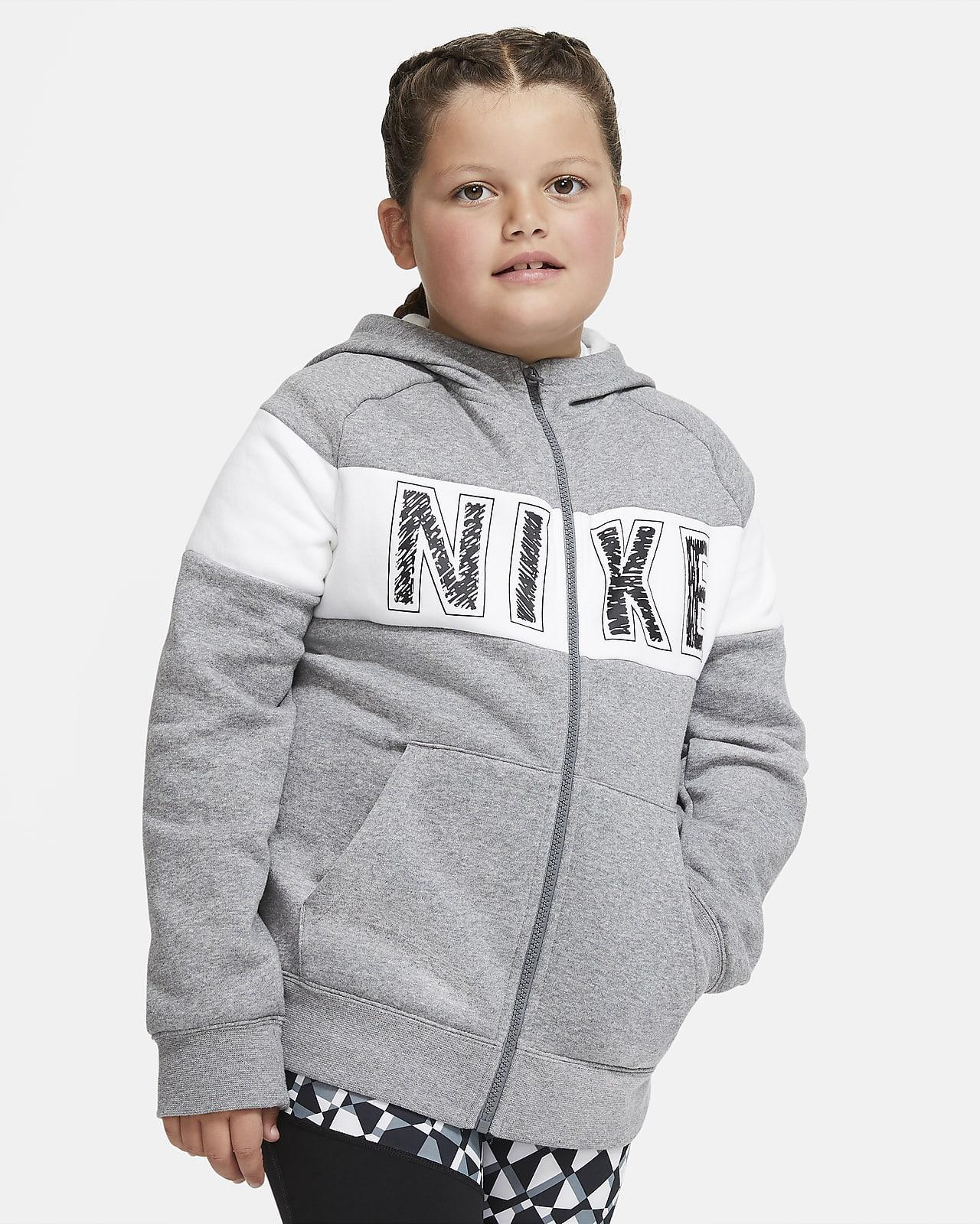 Nike Sportswear Big Kids' (Girls') Full-Zip Fleece Hoodie (Extended Size)