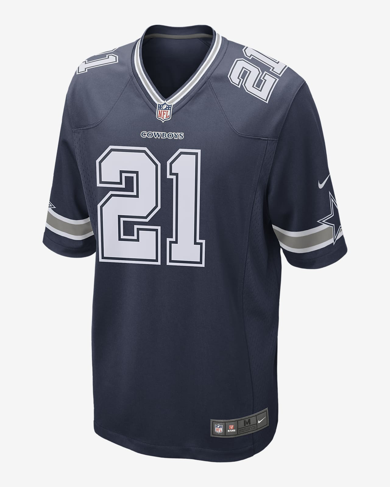 NFL Dallas Cowboys (Ezekiel Elliott) Men's Game Football Jersey