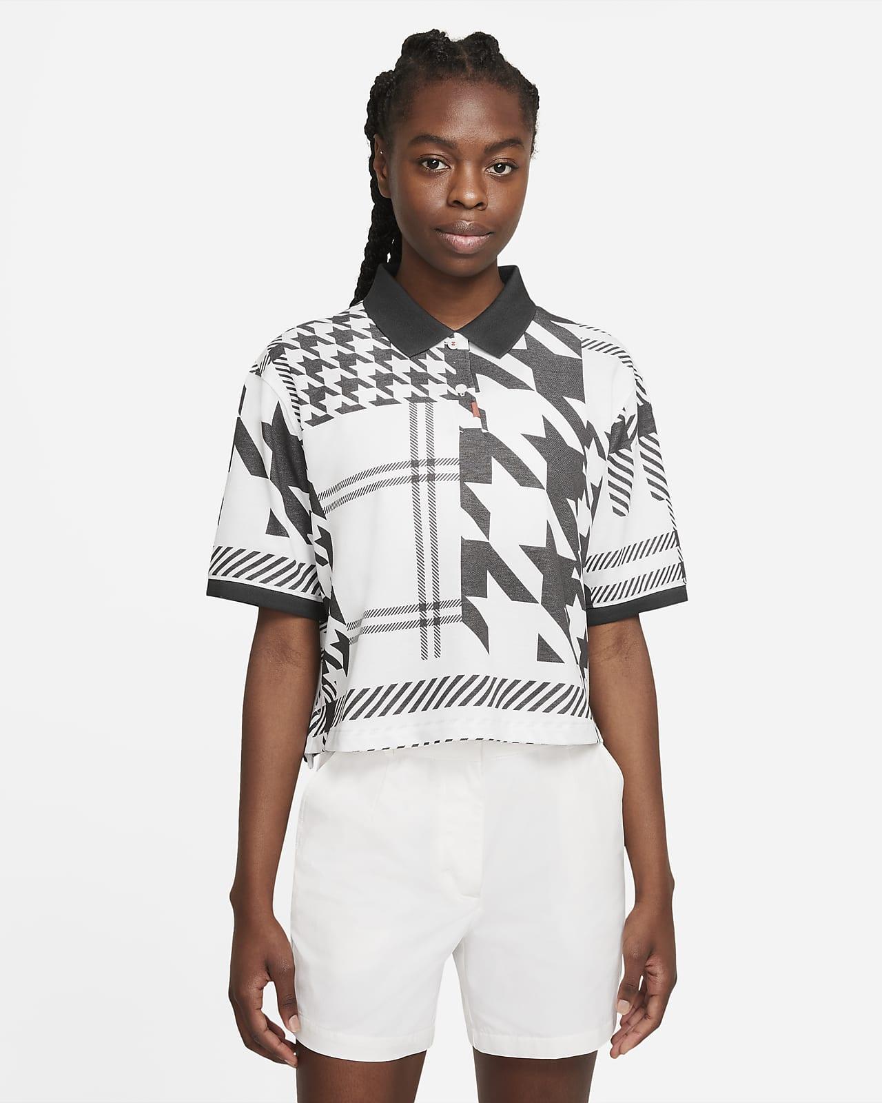 The Nike Polo kockás női galléros póló