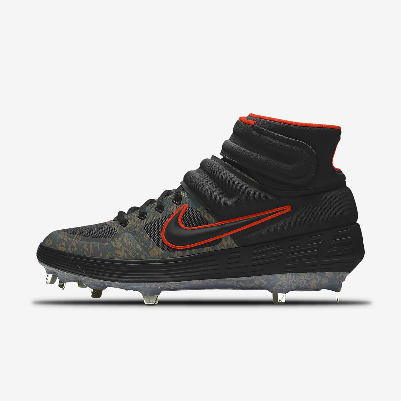 Nike Alpha Huarache Elite 2 Mid Metal Premium By You Custom Baseball Boot