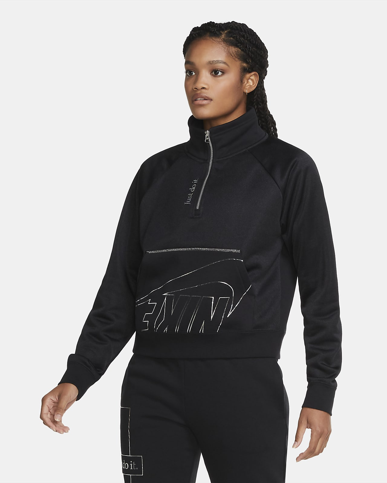 Nike Sportswear Icon Clash Fleecetop met korte rits voor dames
