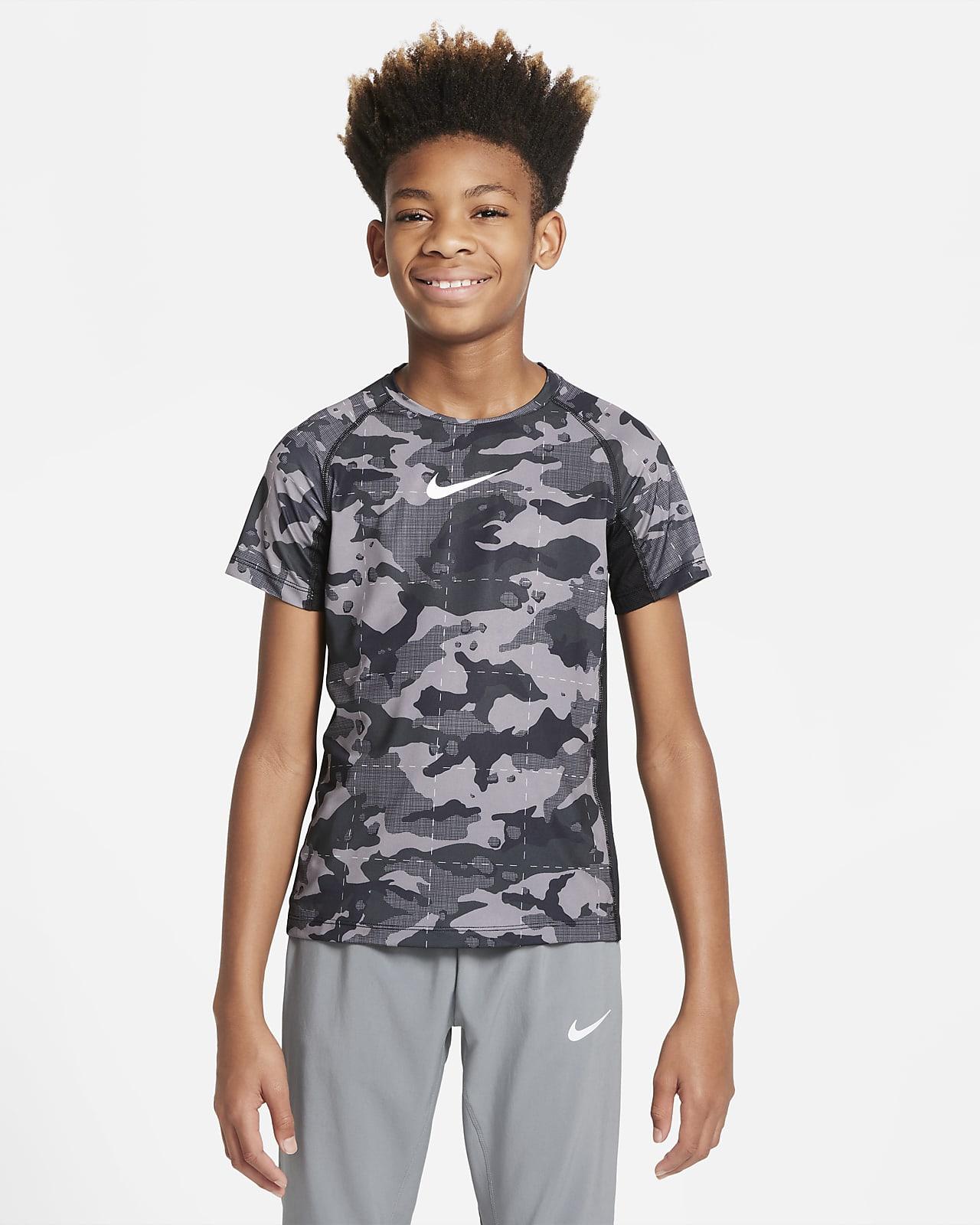 Εμπριμέ μπλούζα προπόνησης Nike Dri-FIT για μεγάλα αγόρια