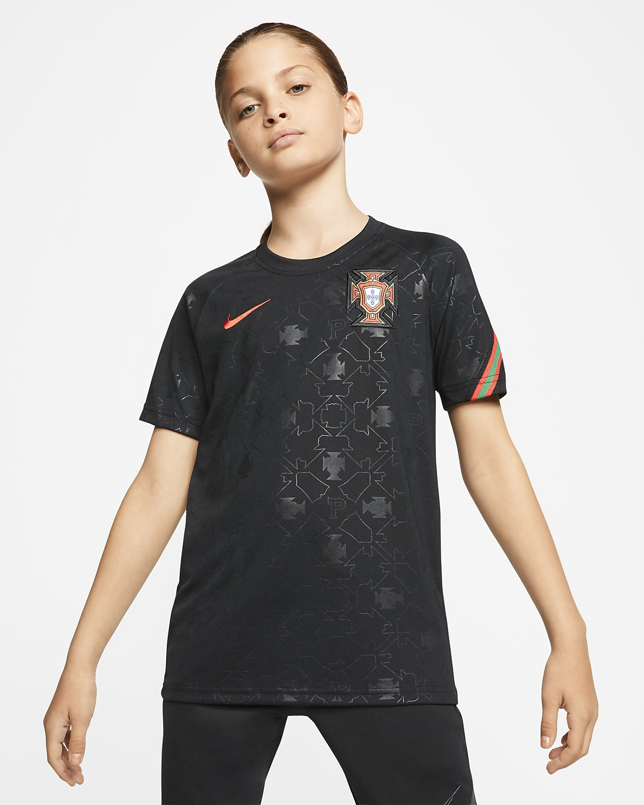 Portugal Older Kids' Short-Sleeve Football Top