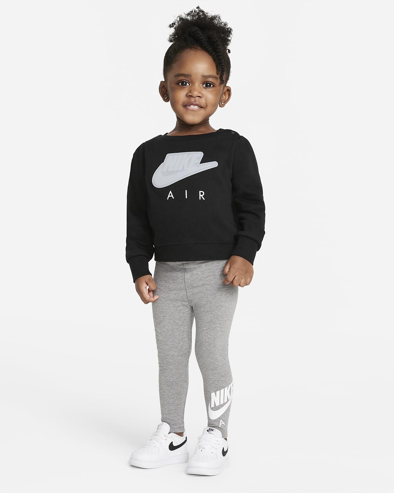 Completo maglia a girocollo e leggings Nike Air - Neonati (12-24 mesi)