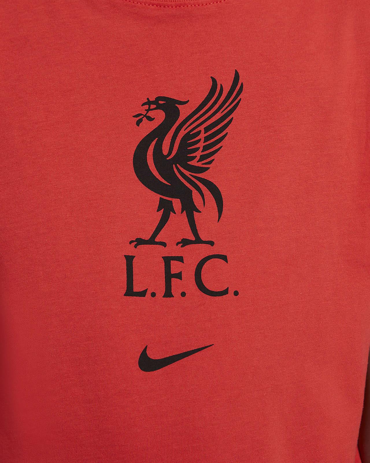 Liverpool F C Older Kids Football T Shirt Nike Nl