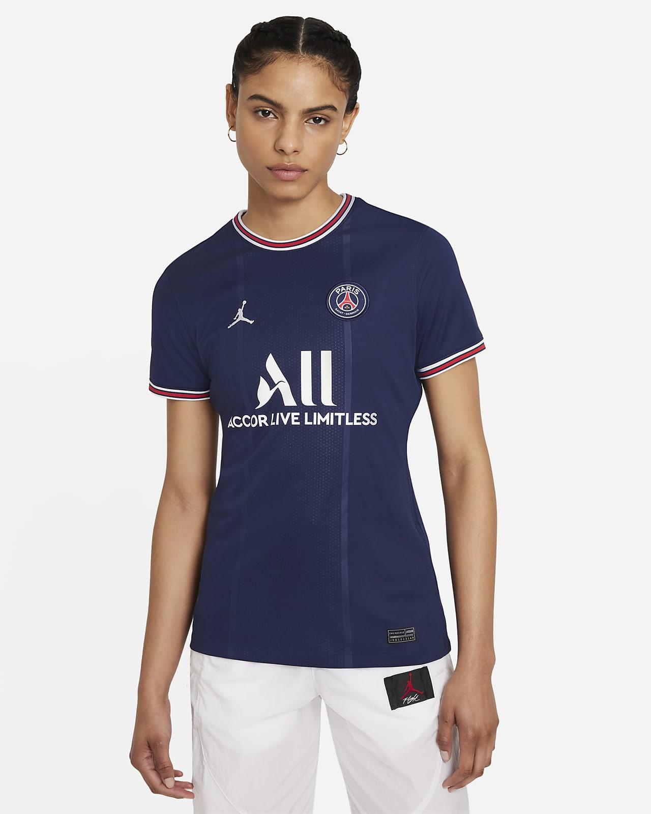 Damska koszulka piłkarska Paris Saint-Germain 2021/22 Stadium (wersja domowa)