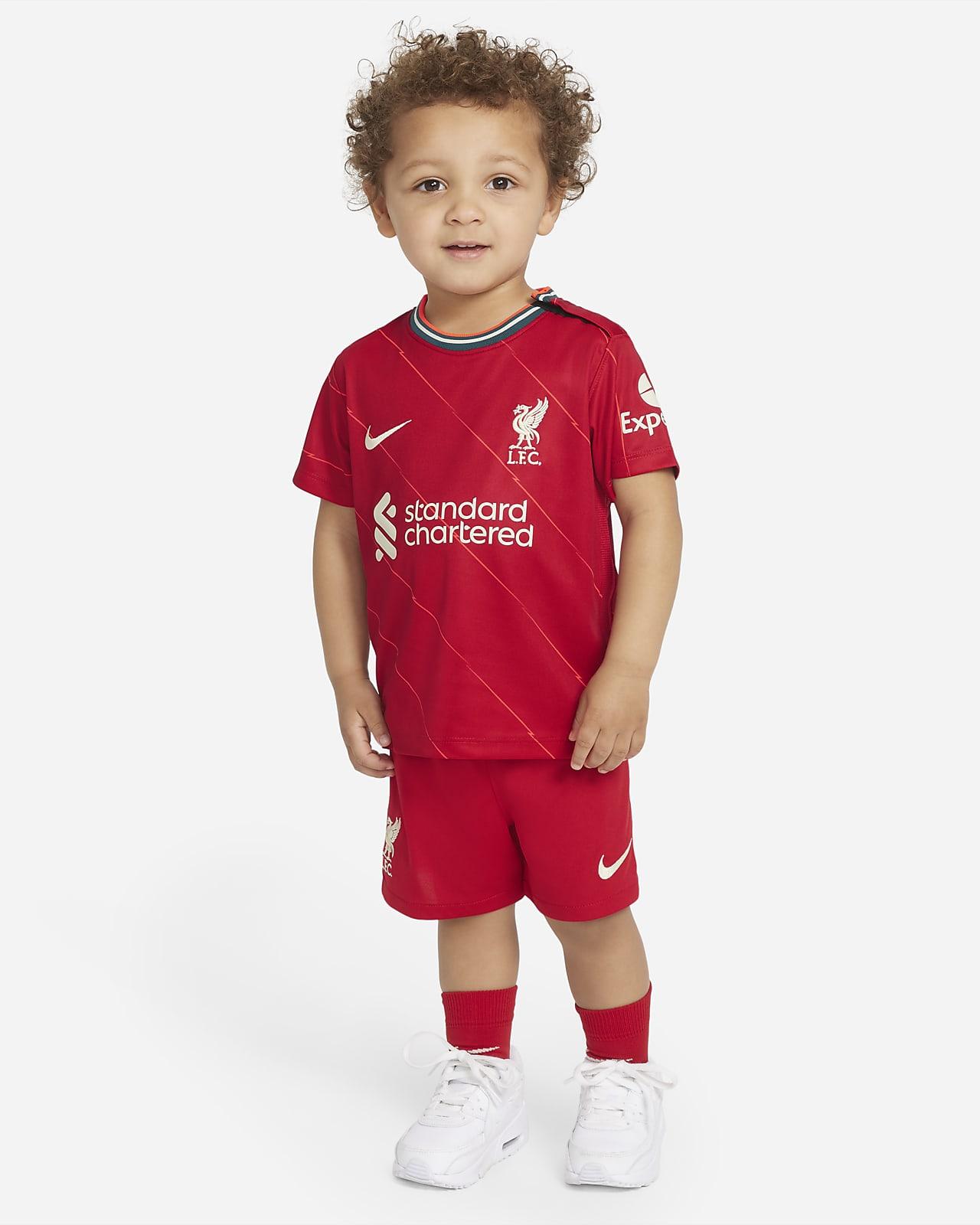 Equipamento de futebol principal Liverpool FC 2021/22 para bebé