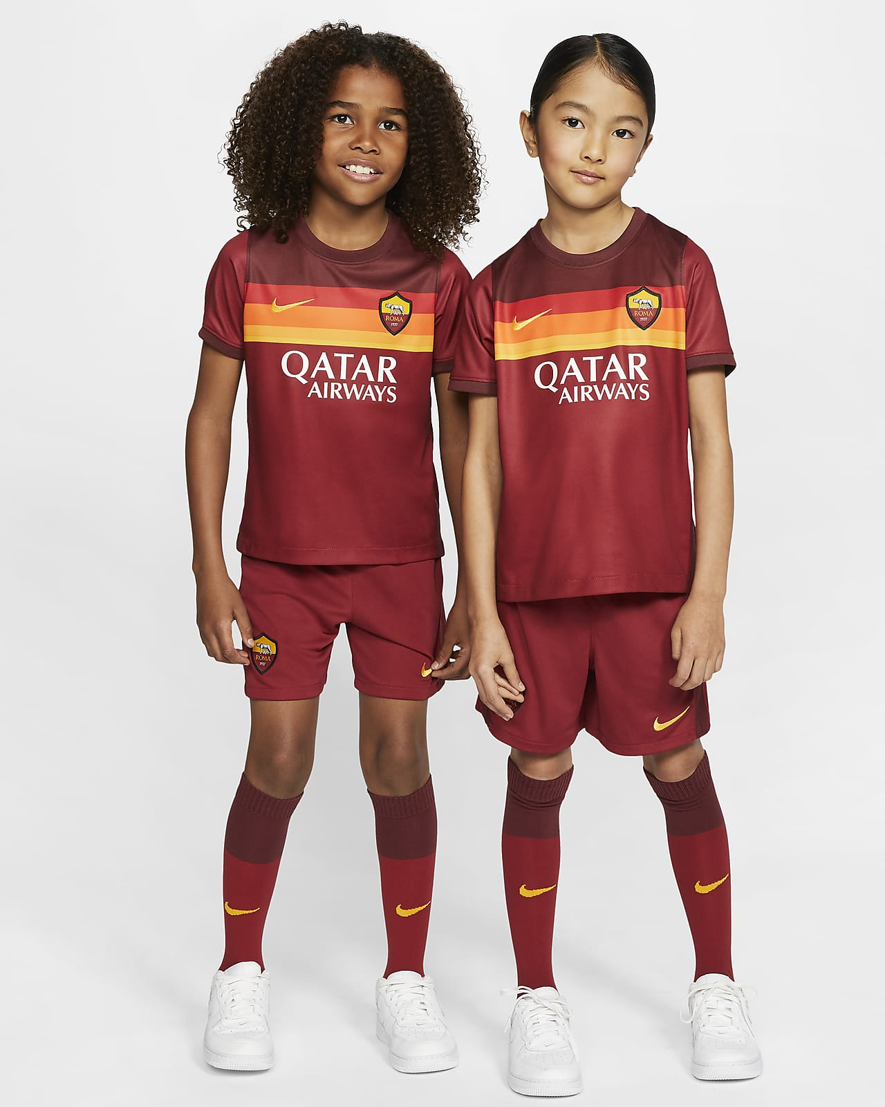 AS Roma 2020/21 Home Younger Kids' Football Kit