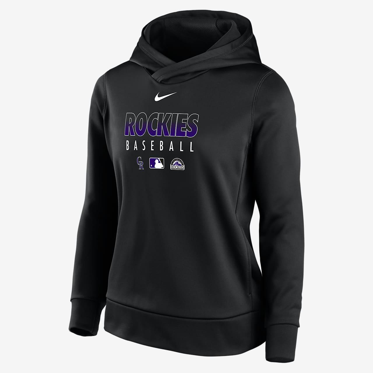 Nike Therma (MLB Colorado Rockies) Women's Pullover Hoodie