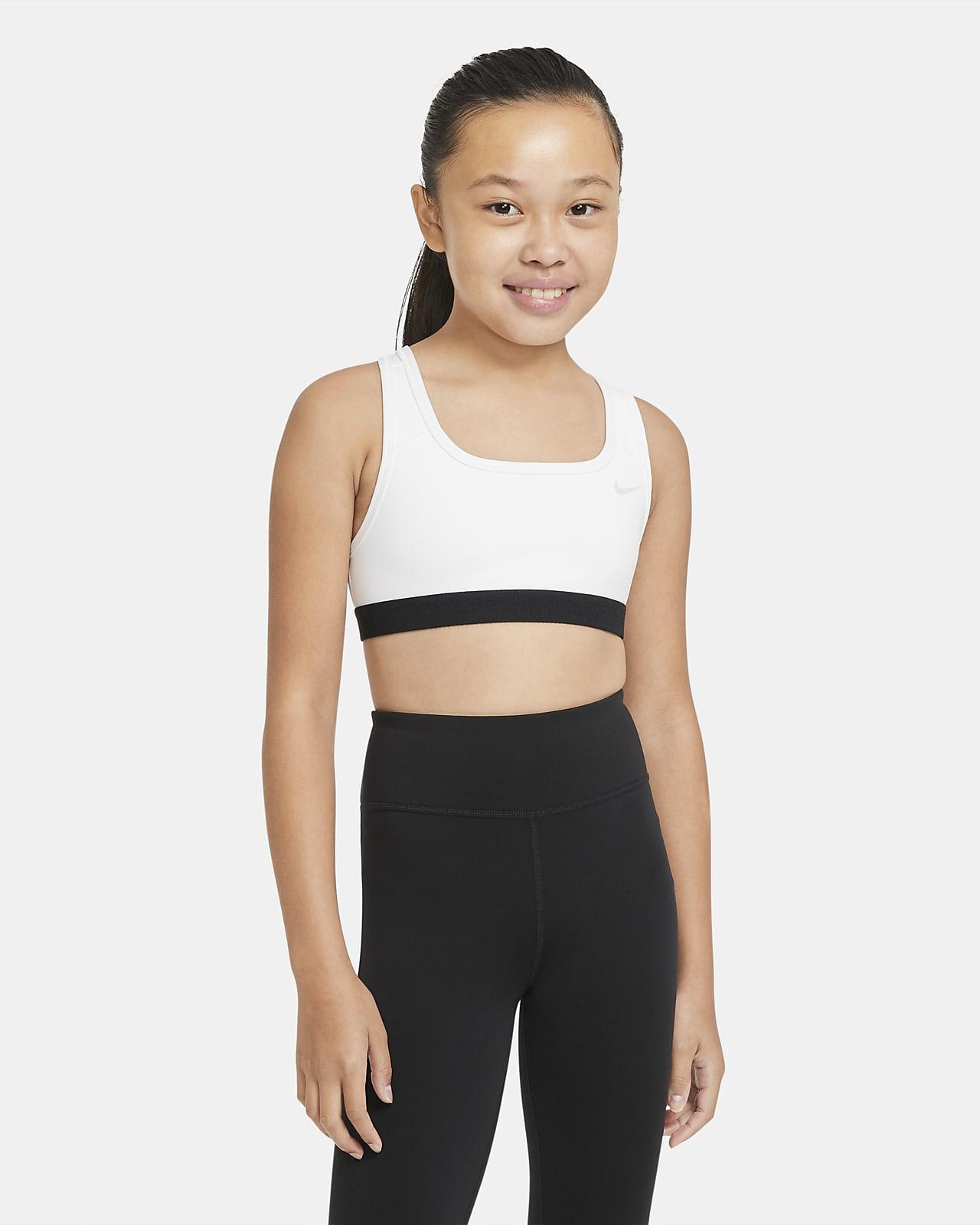 Nike Swoosh Sport-bh voor meisjes