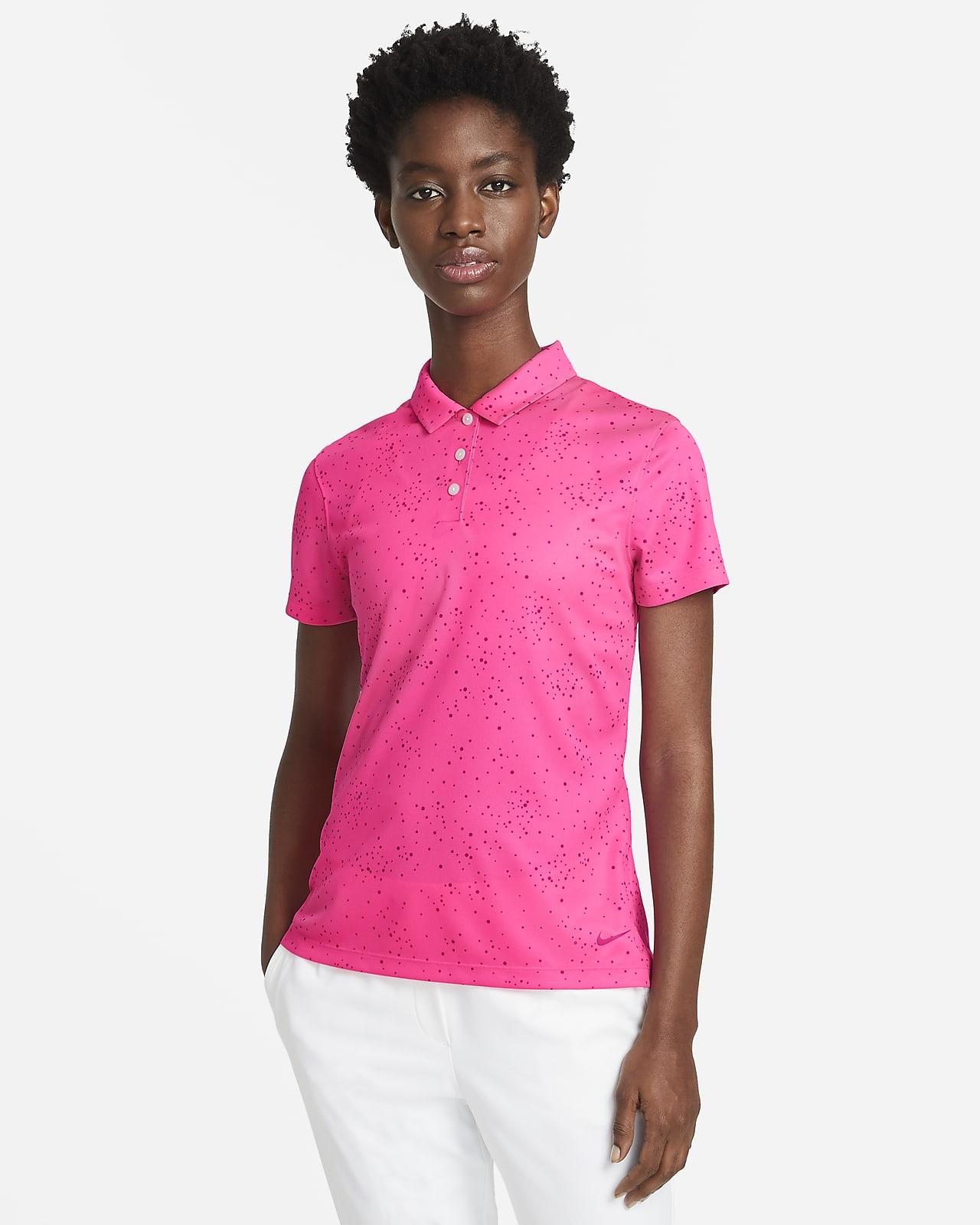 Polo de golf imprimé à manches courtes Nike Dri-FIT pour Femme