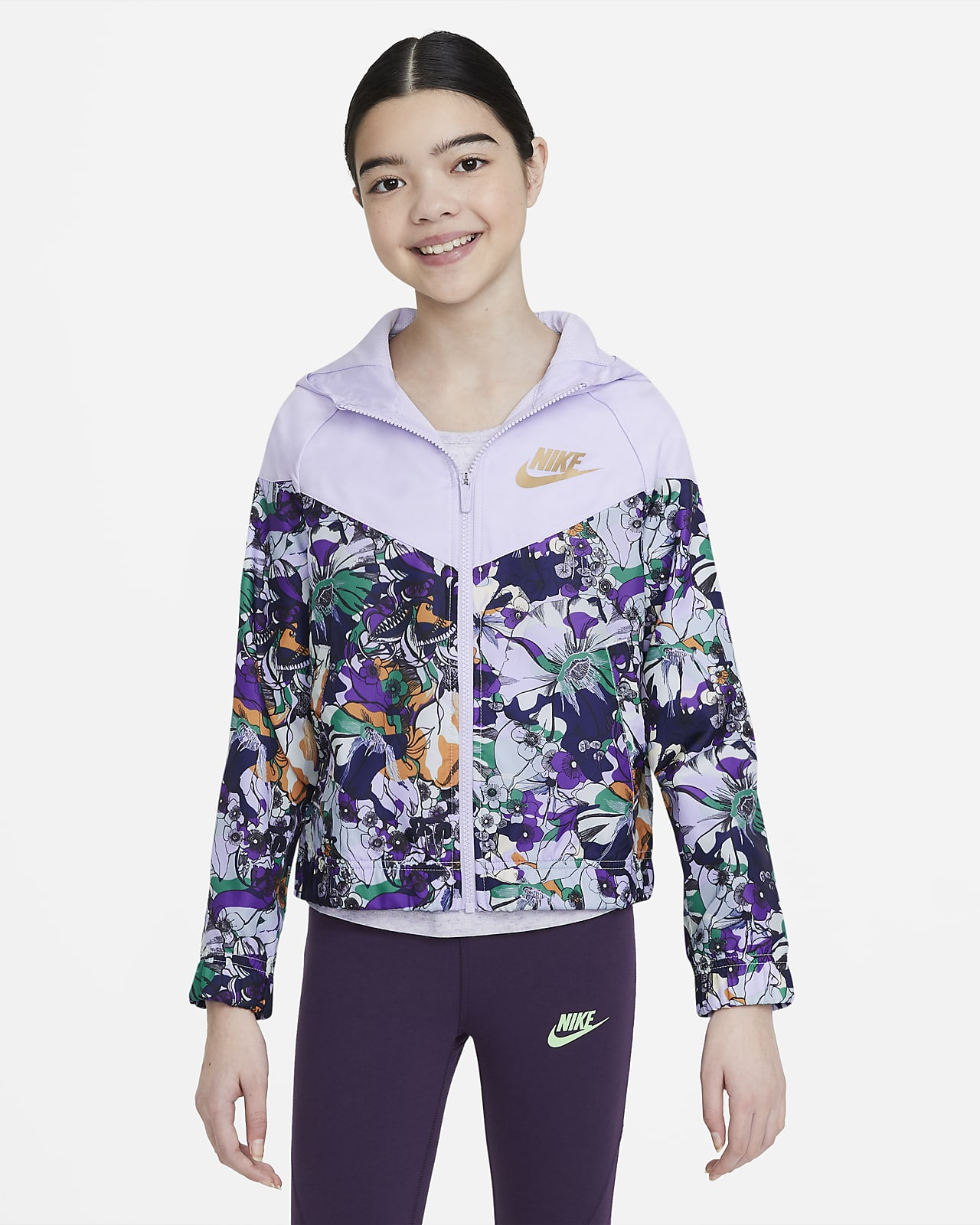 Nike Sportswear Windrunner Older Kids' (Girls') Printed Jacket
