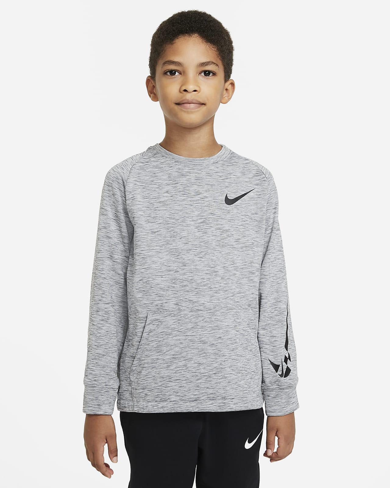 Camiseta de entrenamiento de tejido Fleece para niños talla grande Nike