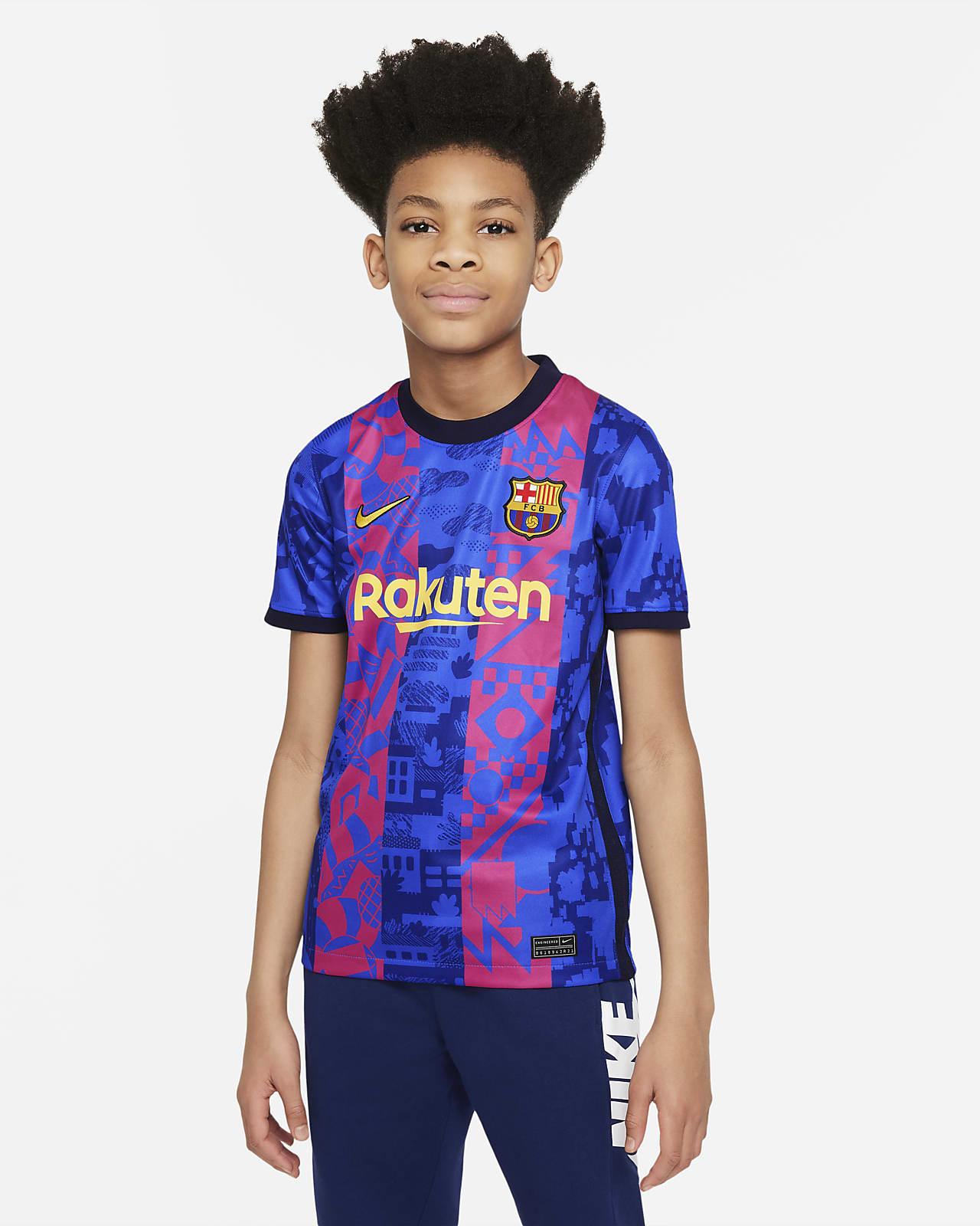 Jersey de fútbol Nike Dri-FIT del FC Barcelona alternativo 2021/22 Stadium para niños talla grande