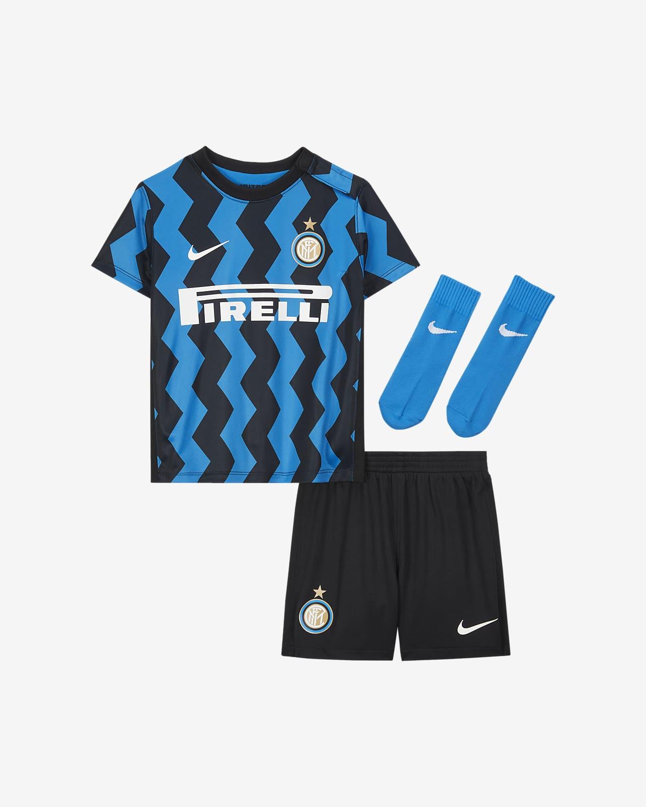 Inter Milan 2020/21 (hjemmedrakt) fotballsett til spedbarn