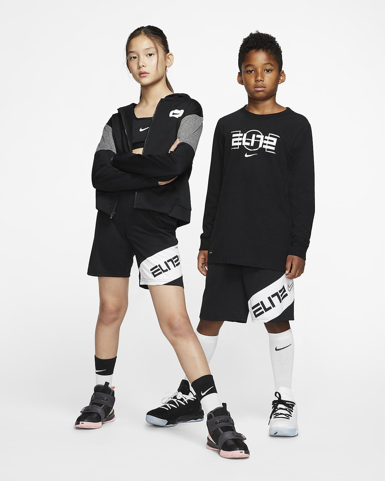 Basketbalové kraťasy Nike Elite s grafickým motivem pro větší děti