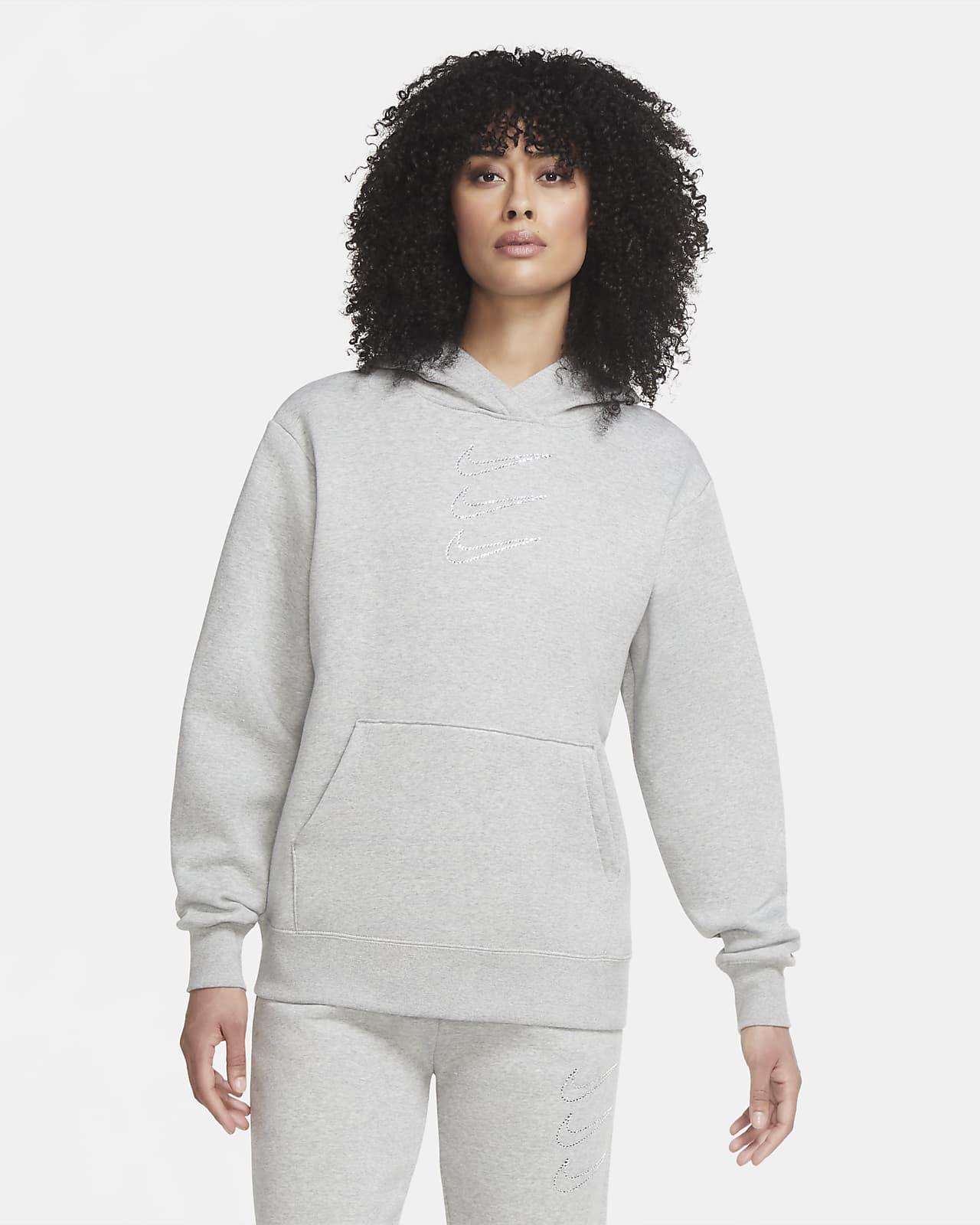 Nike Sportswear csillogó női kapucnis pulóver