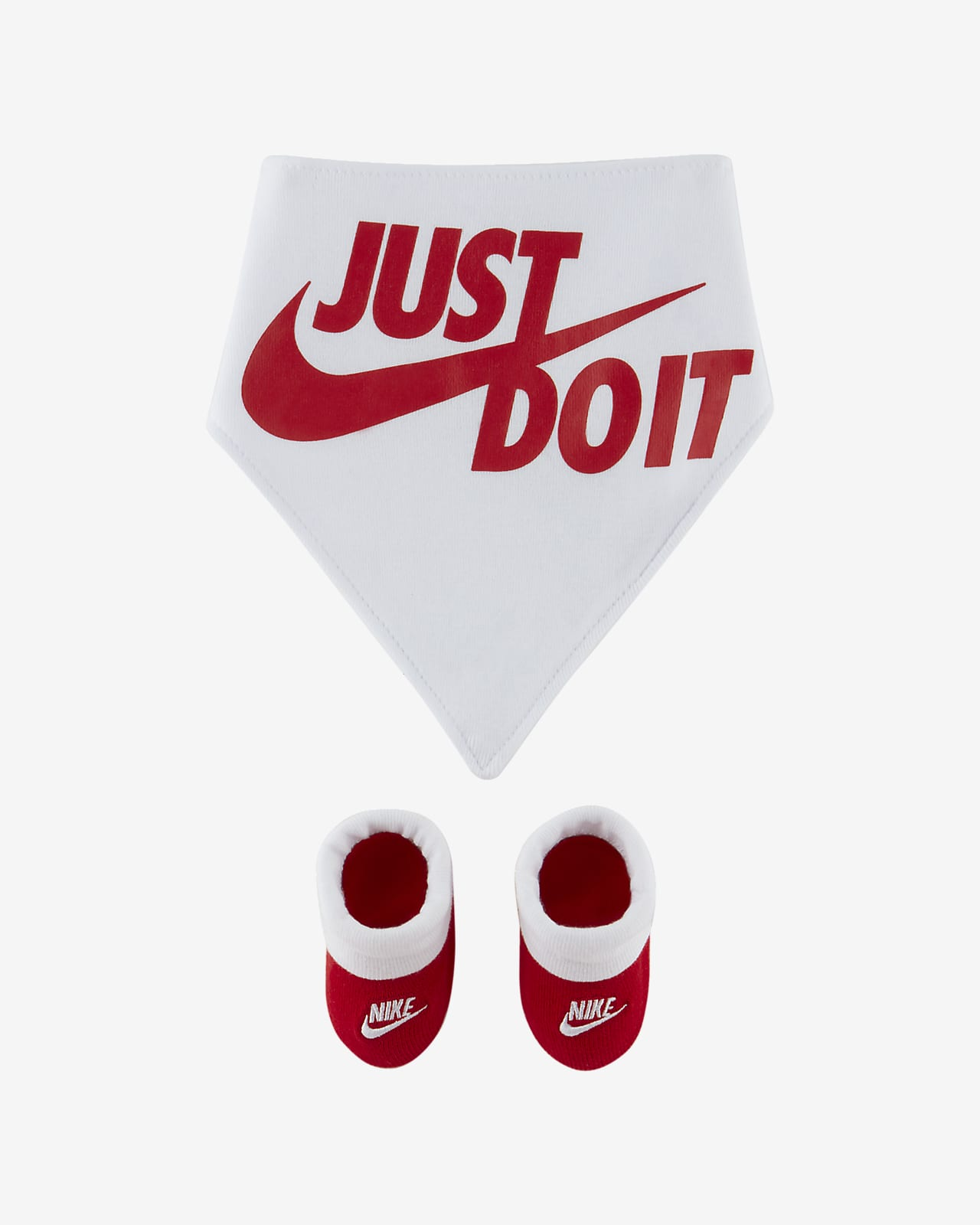 Nike Baby (0-6M) Bib and Booties Box Set