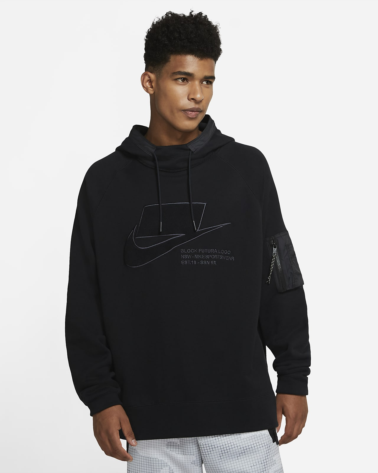 เสื้อมีฮู้ดผู้ชายแบบสวม Nike Sportswear NSW